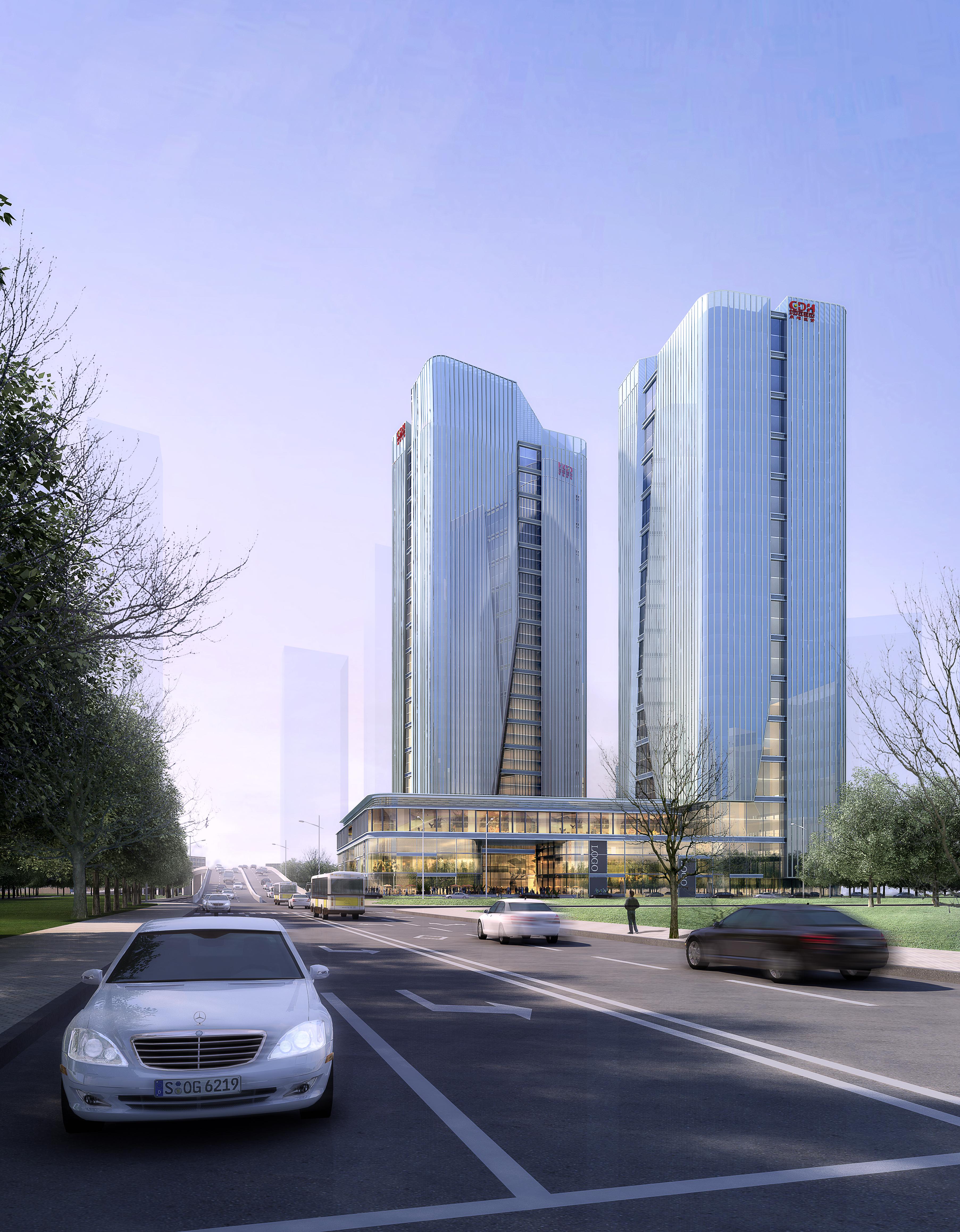 skyscraper office building 019 3d model max psd 206341