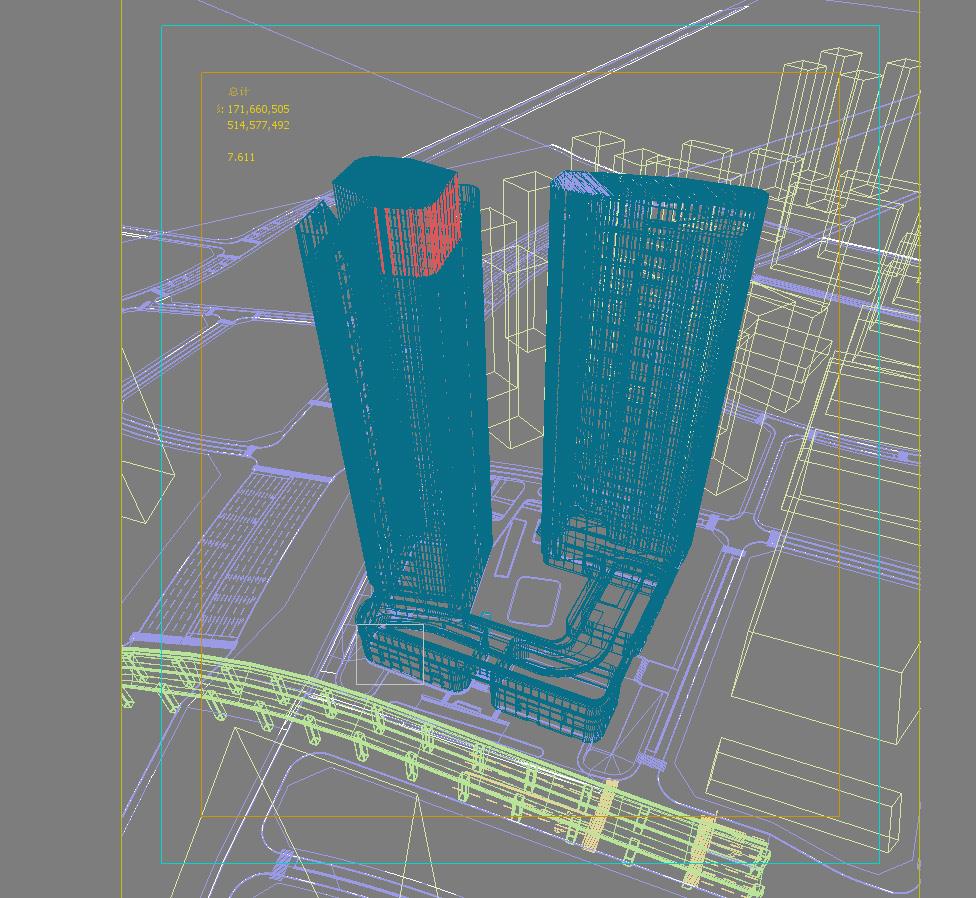 skyscraper office building 019 3d model max psd 206342