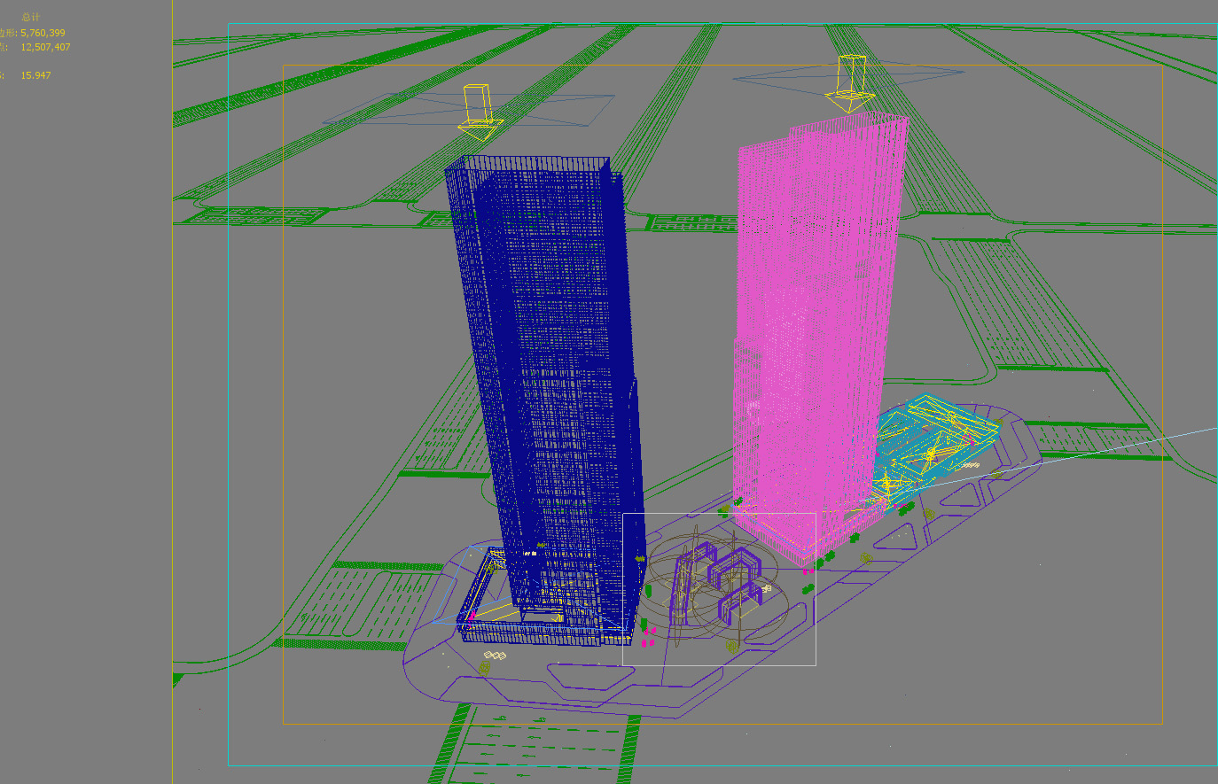 skyscraper office building 016 3d model max 206359