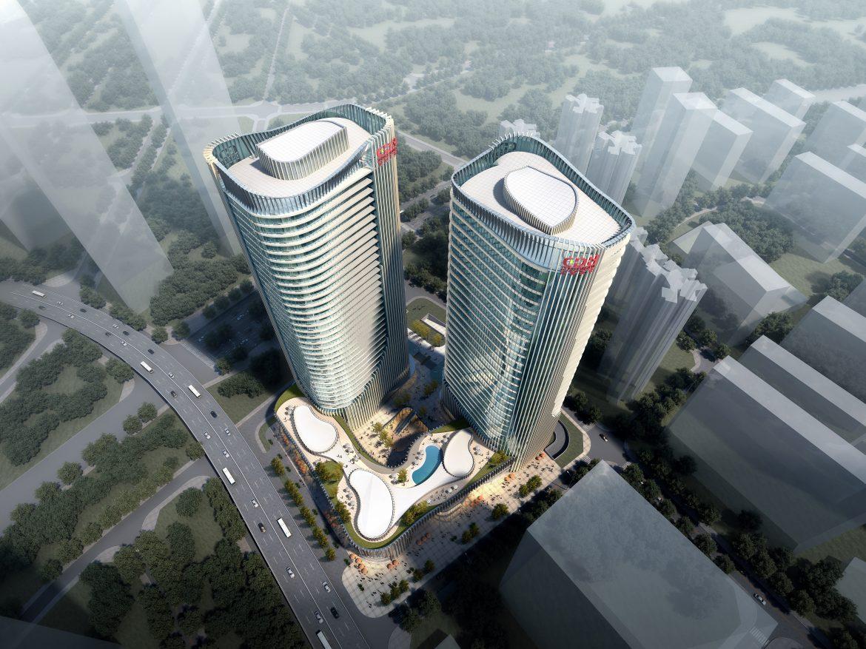 skyscraper office building 020 3d model max psd 206369