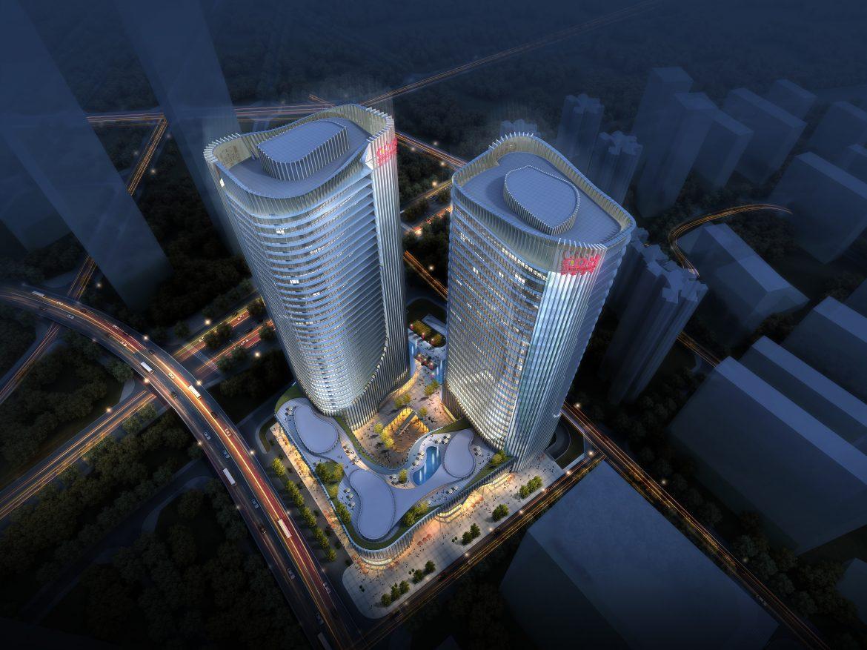 skyscraper office building 020 3d model max psd 206370