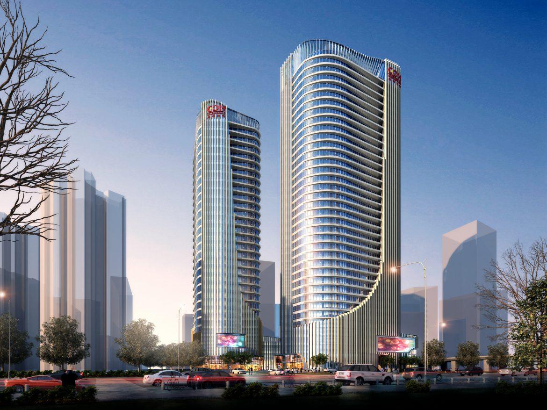 skyscraper office building 020 3d model max psd 206371
