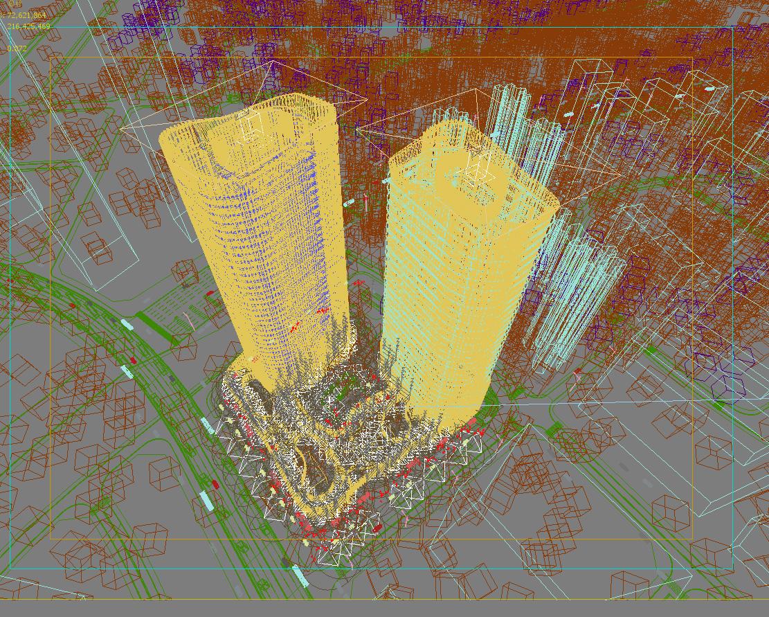 skyscraper office building 020 3d model max psd 206372