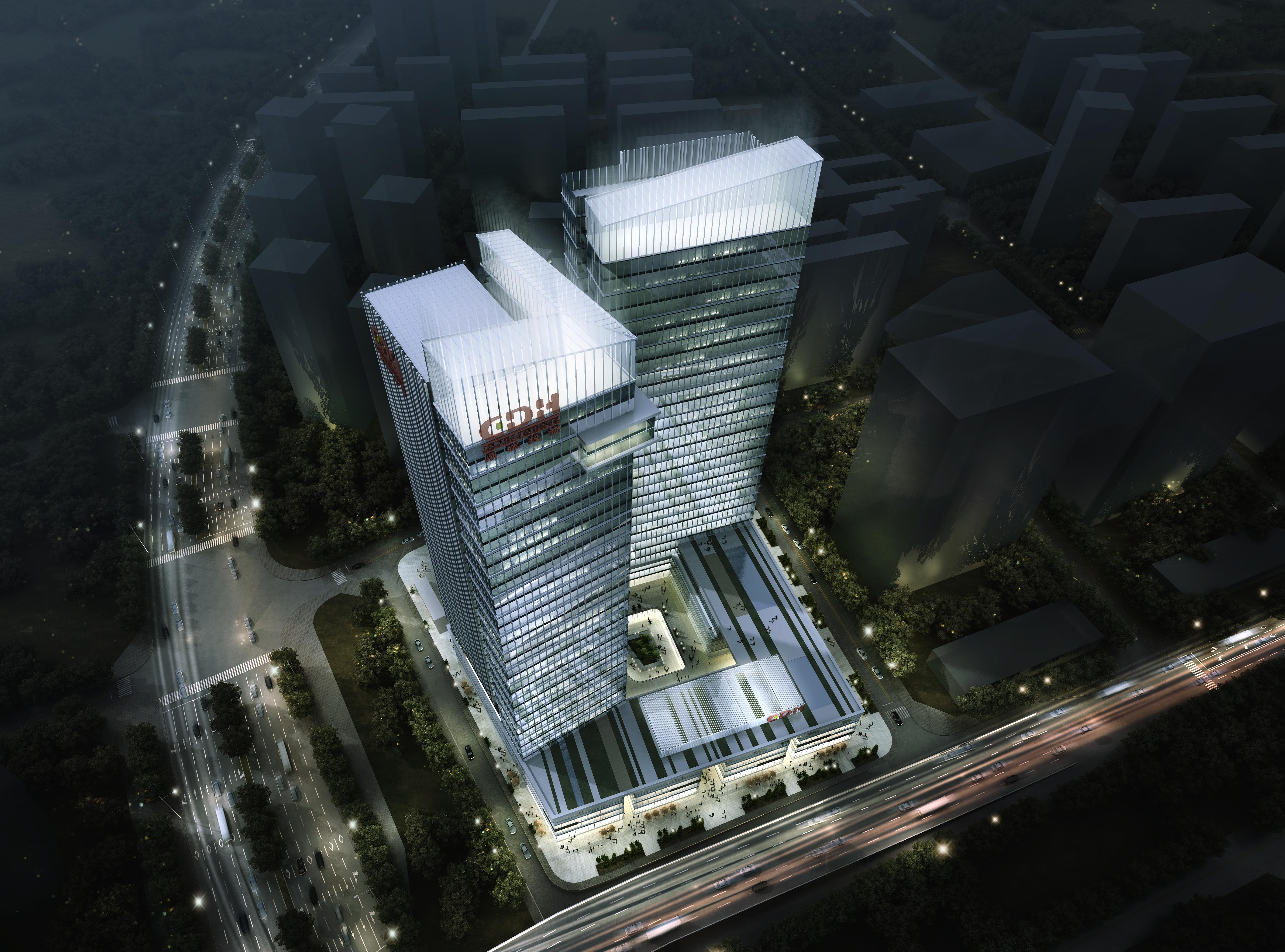office building skyscraper 021 3d model max psd 206374