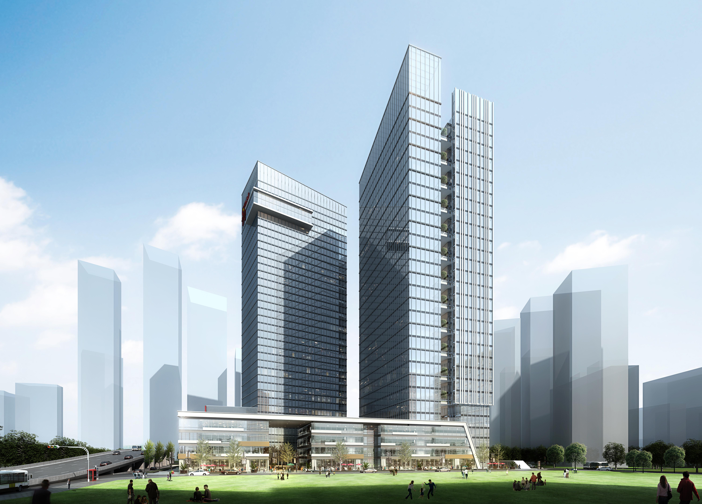 office building skyscraper 021 3d model max psd 206375