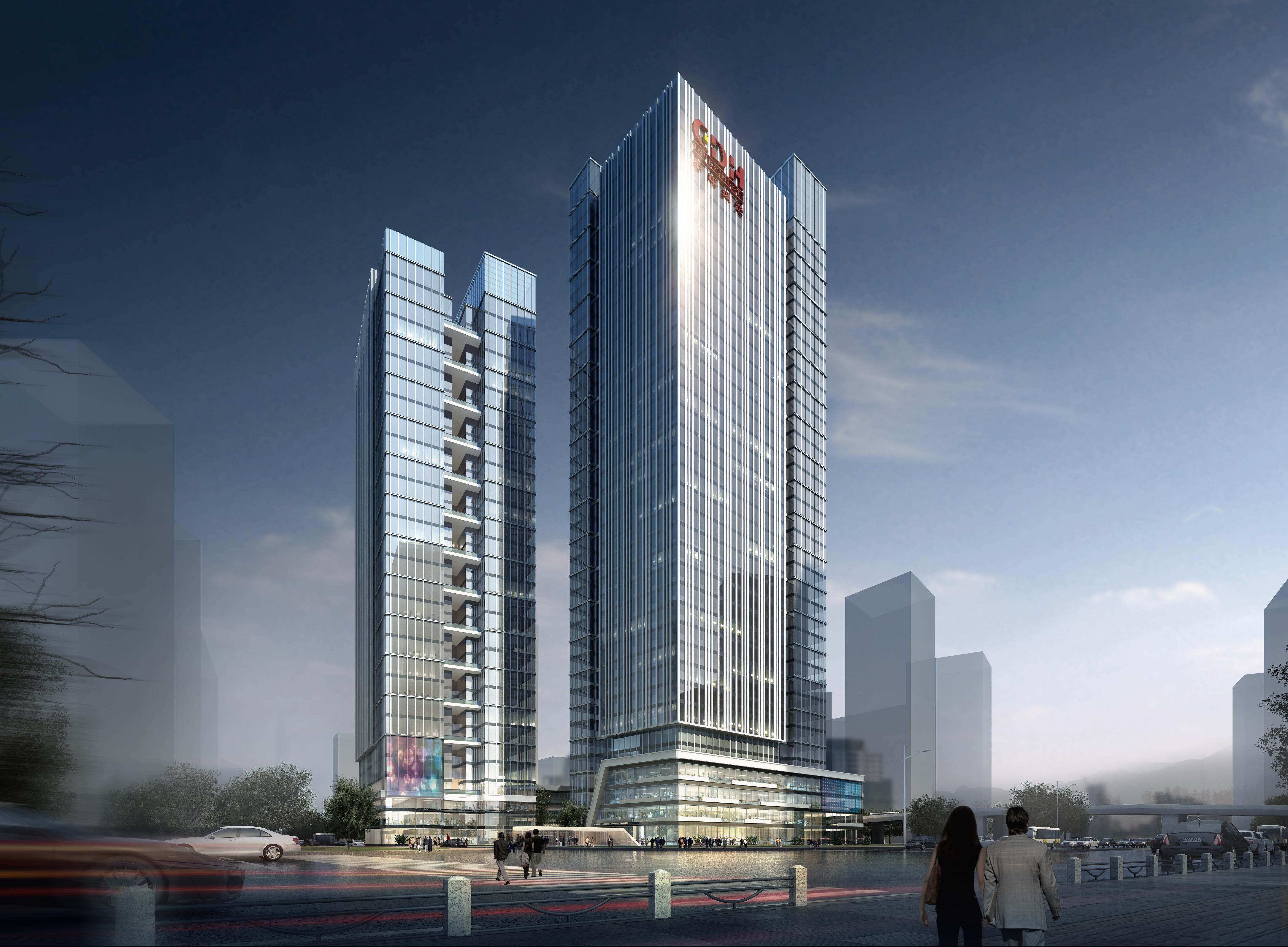 office building skyscraper 021 3d model max psd 206377