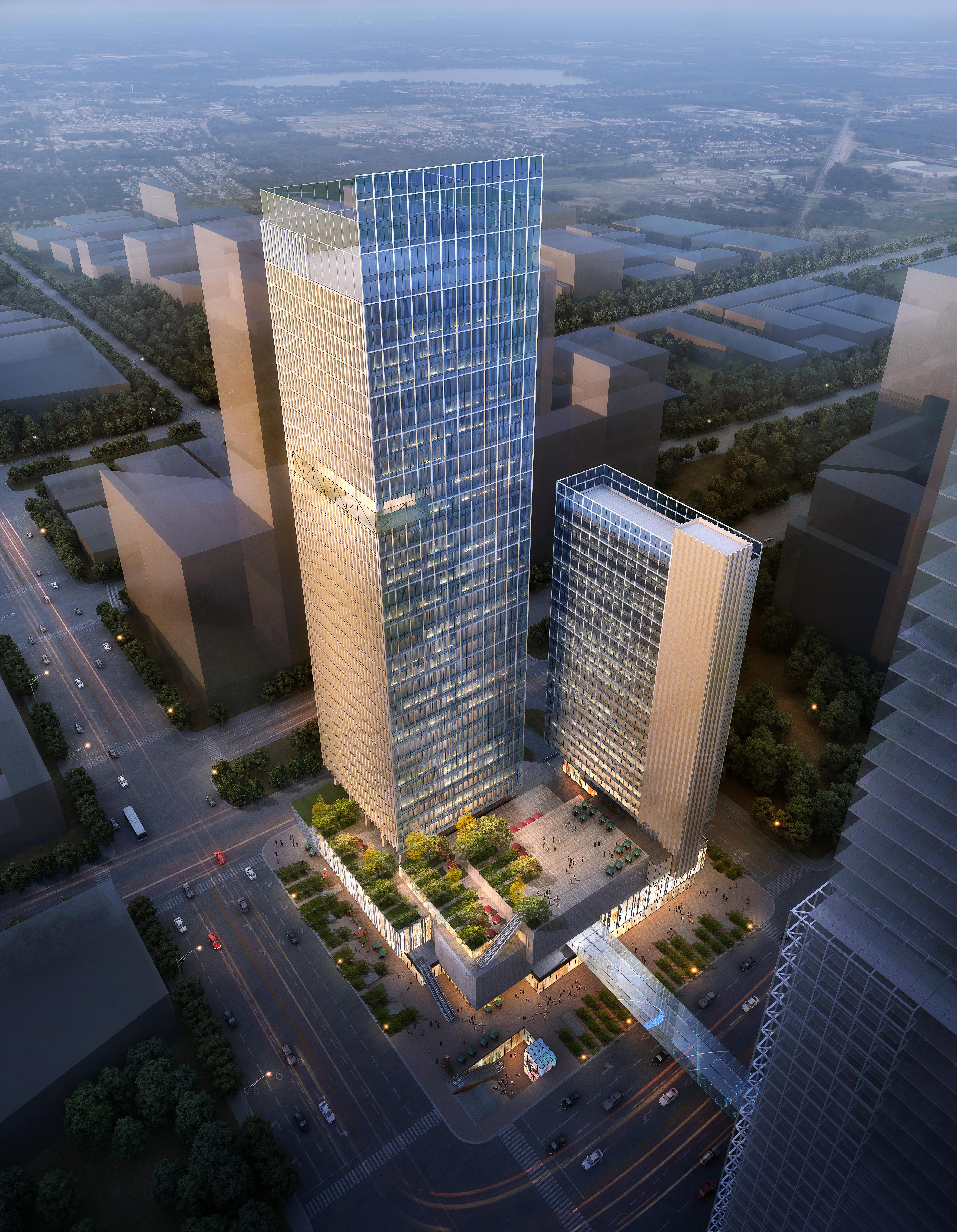skyscraper office building 023 3d model max psd 206387