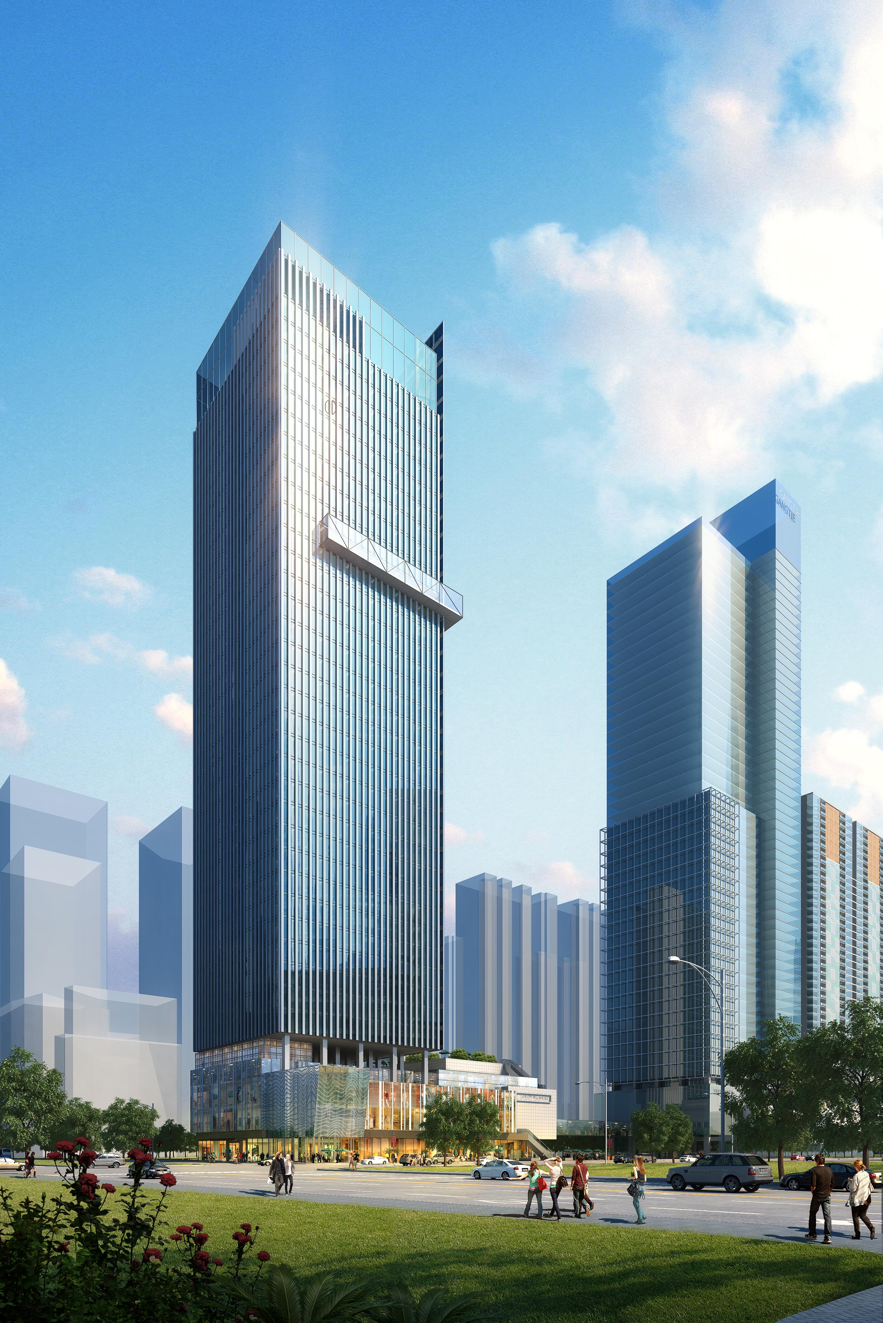 skyscraper office building 023 3d model max psd 206388