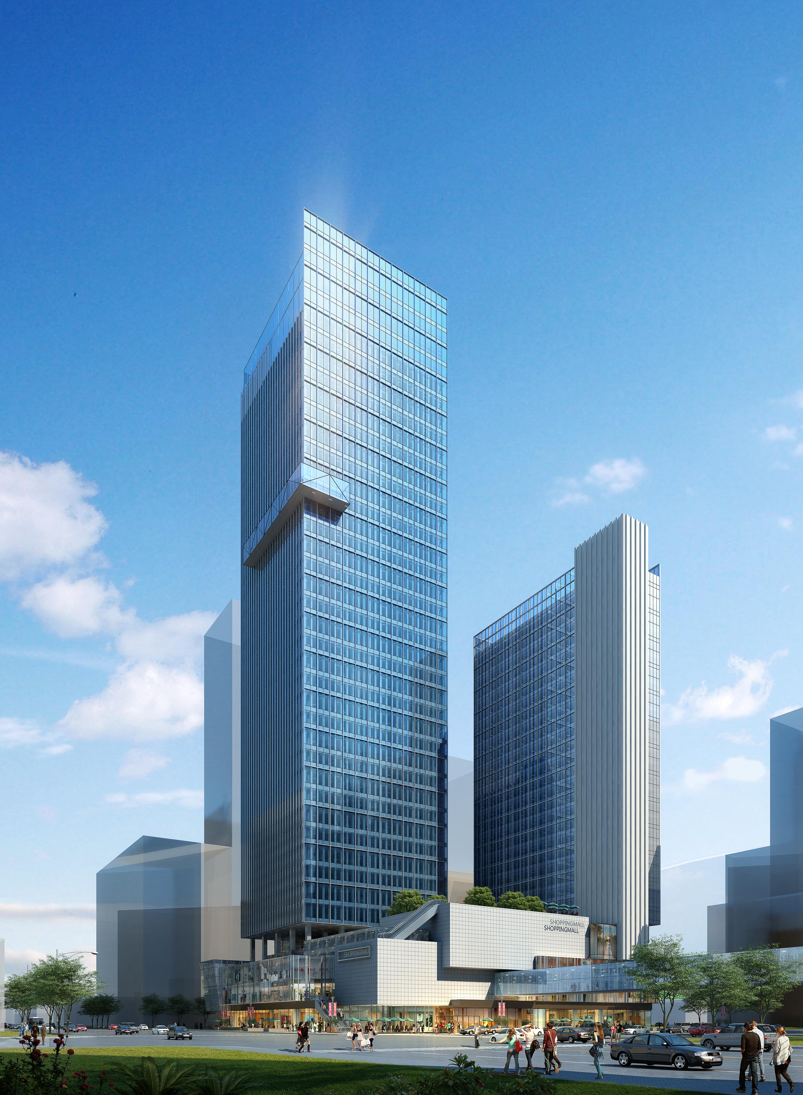 skyscraper office building 023 3d model max psd 206390