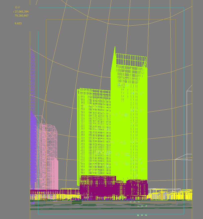 skyscraper office building 023 3d model max psd 206391