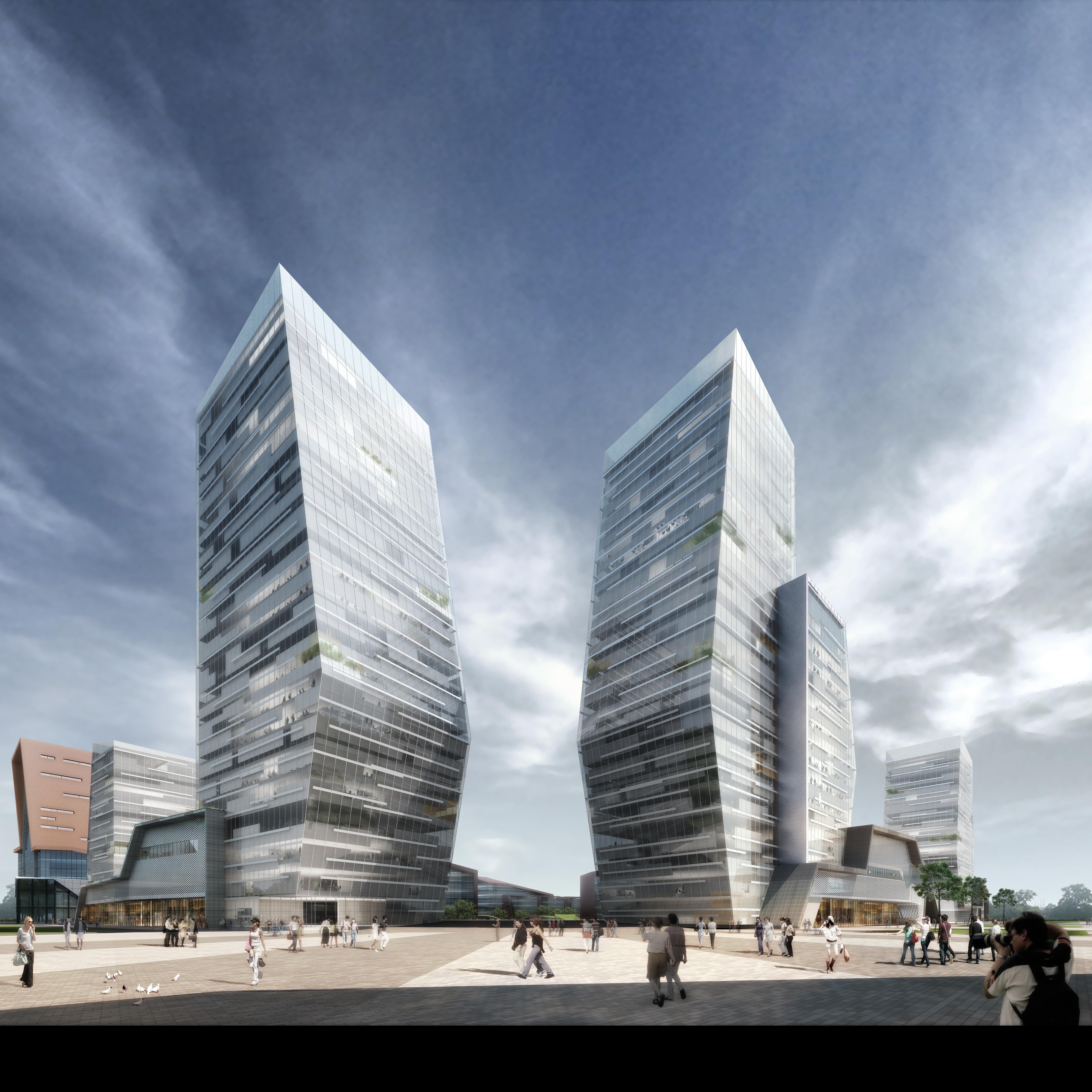 skyscraper office building 025 3d model max 206403