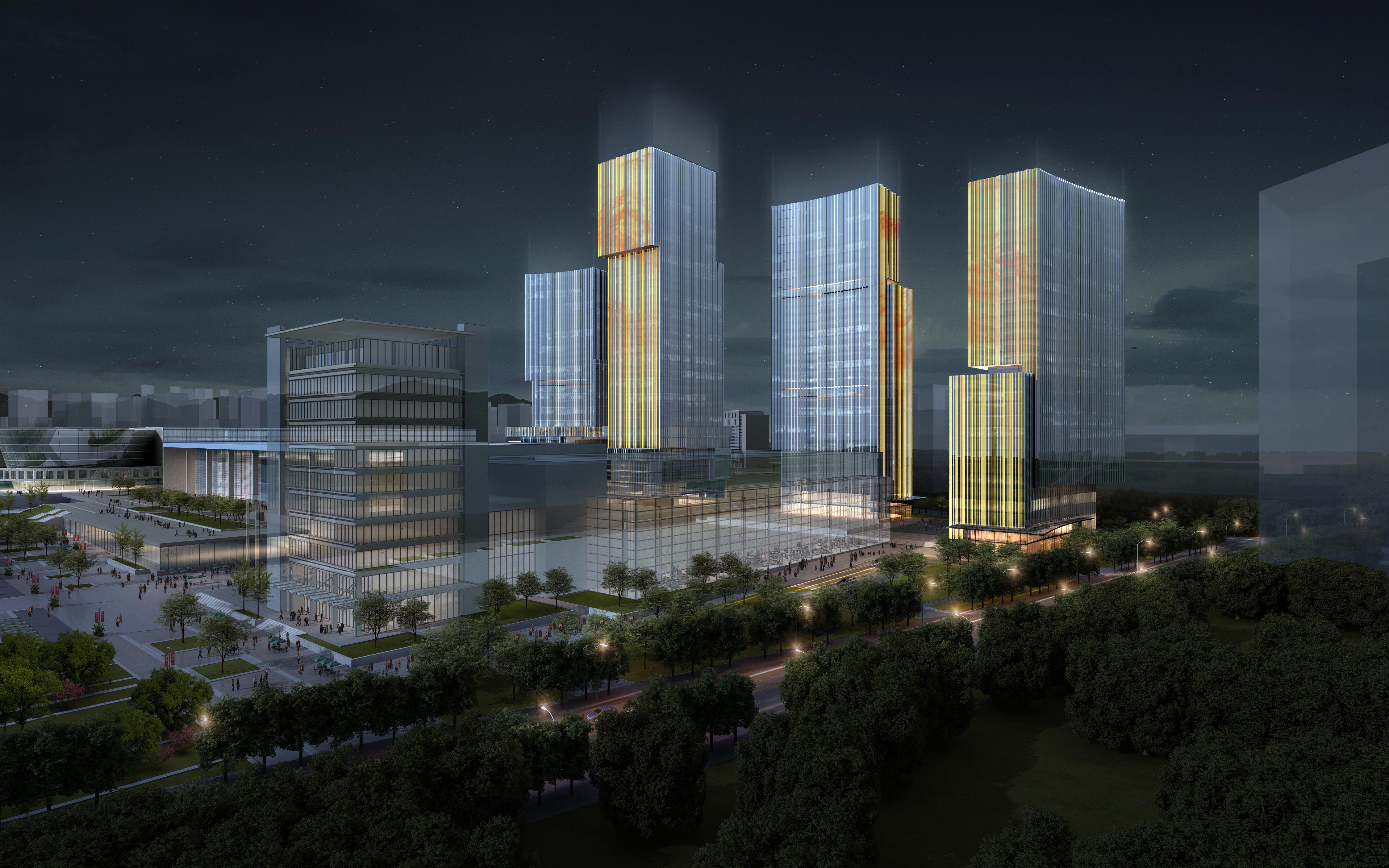 skyscraper office building 026 3d model max 206409