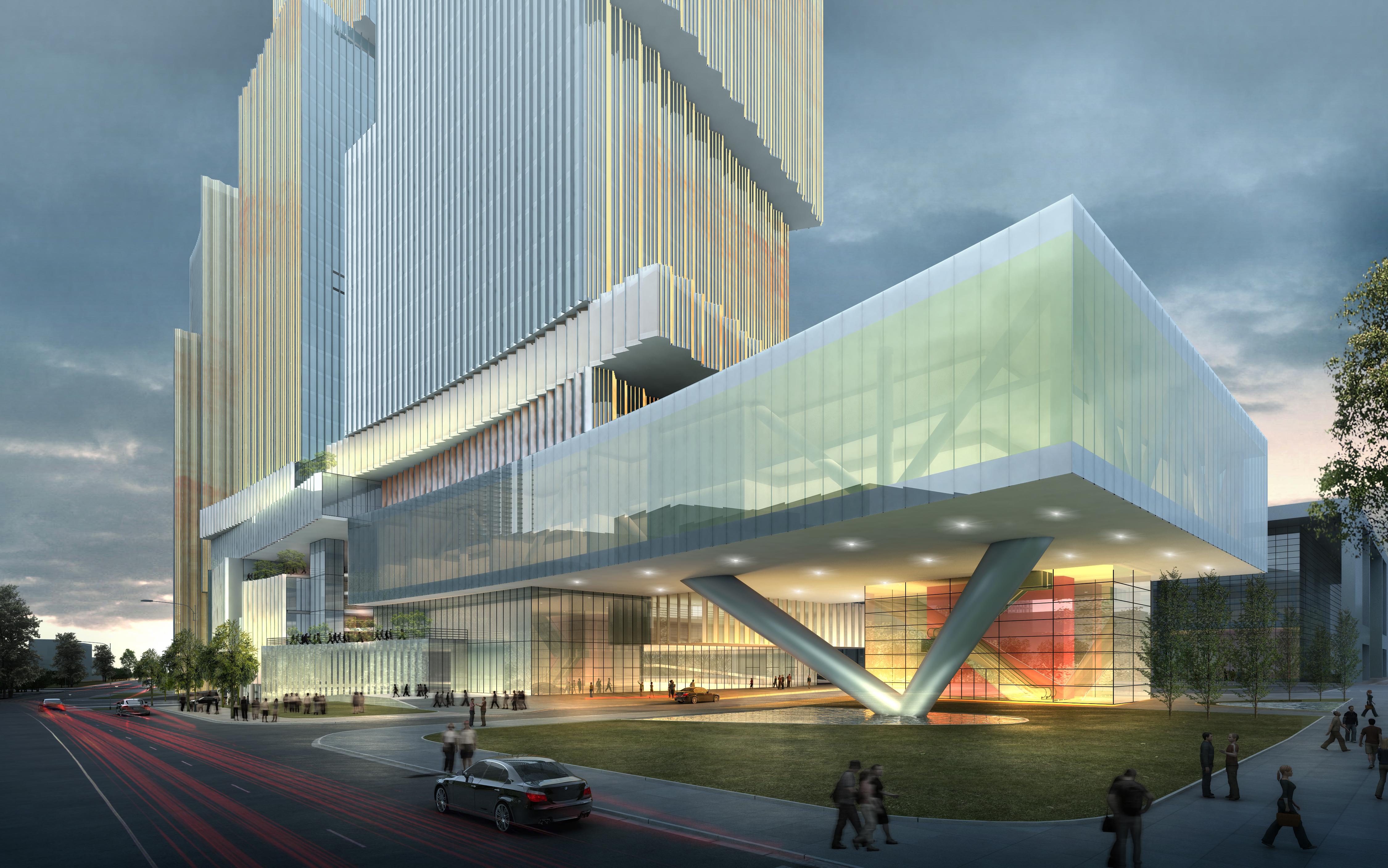 skyscraper office building 026 3d model max 206411