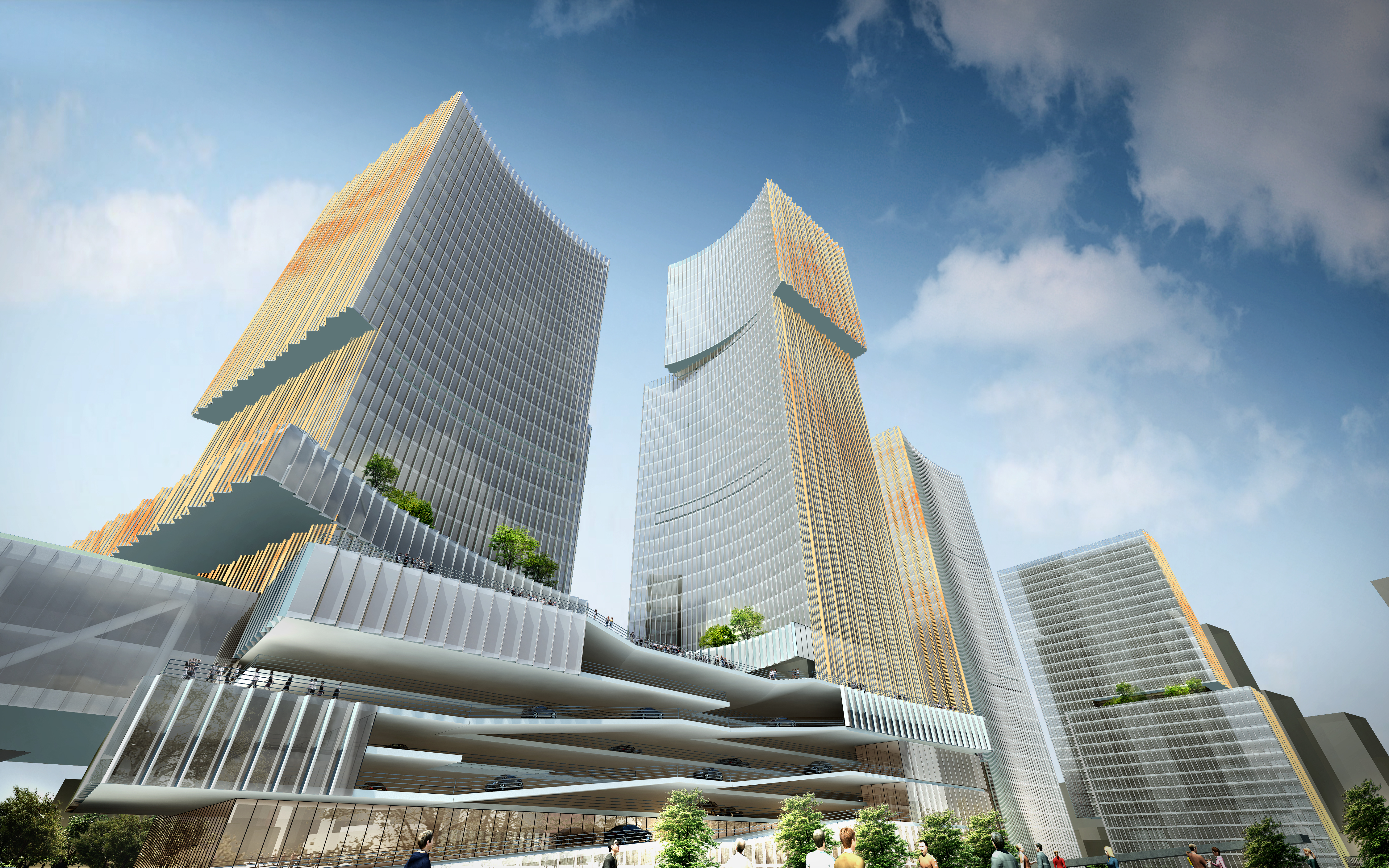 skyscraper office building 026 3d model max 206412
