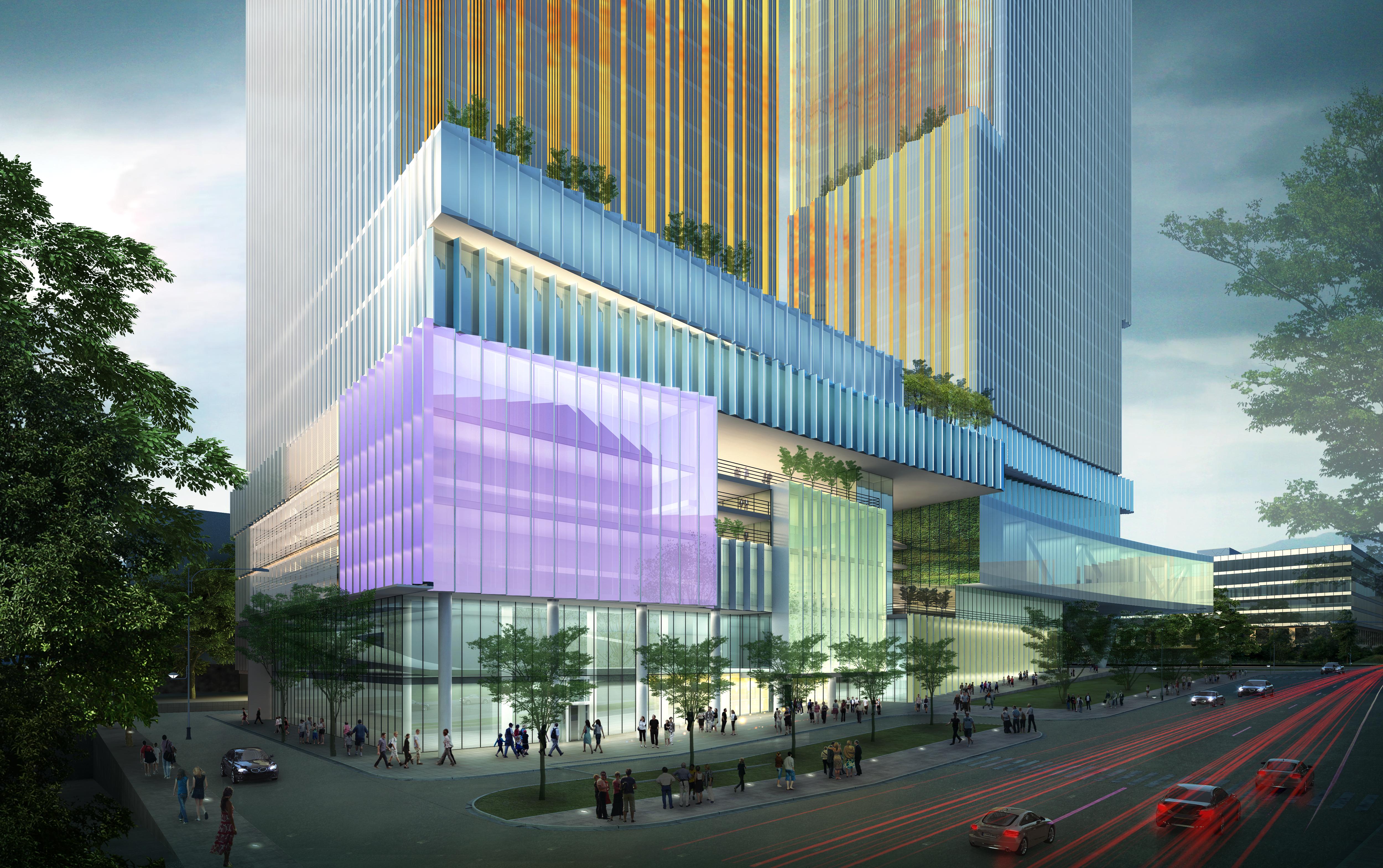 skyscraper office building 026 3d model max 206413