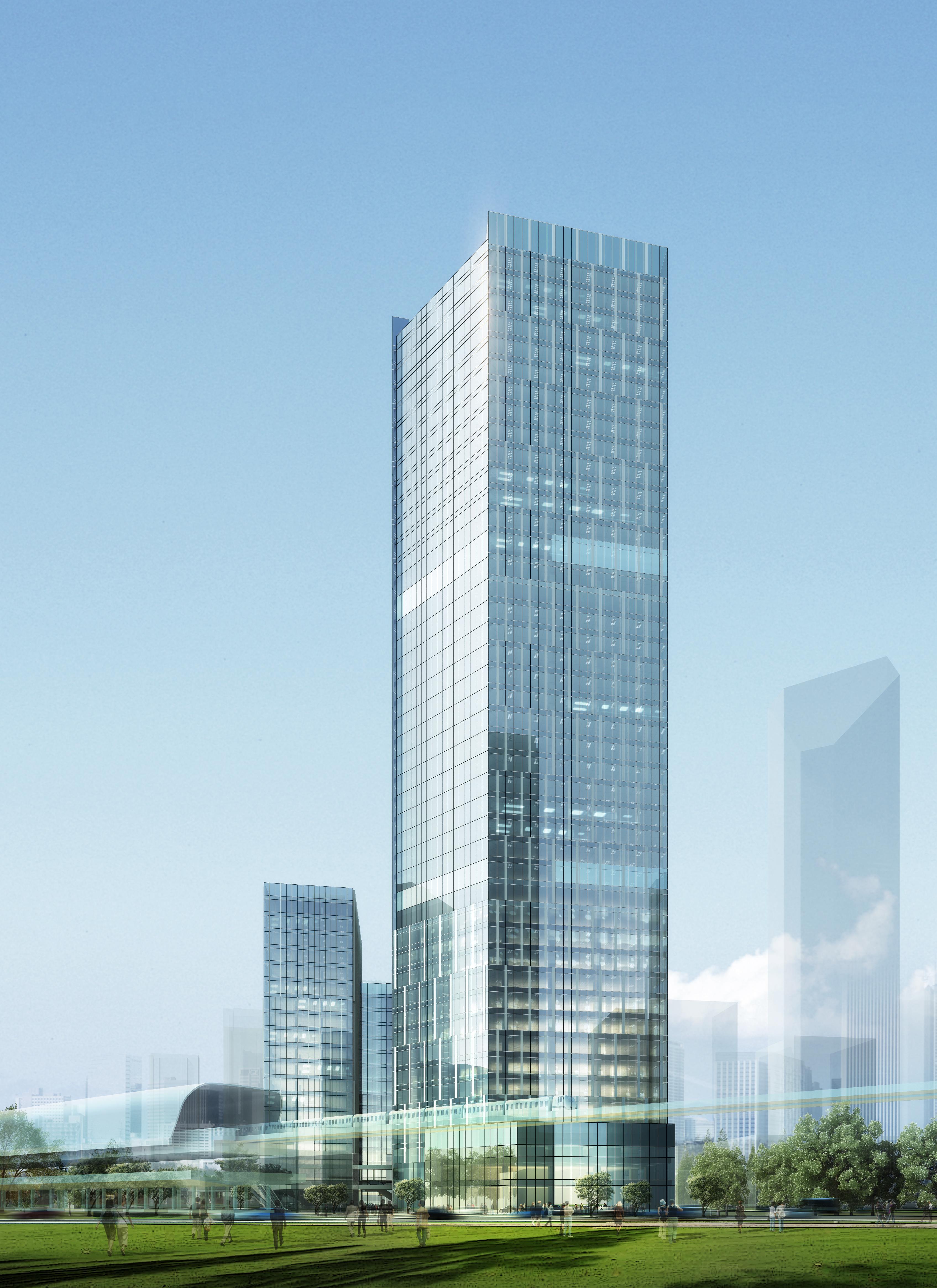 skyscraper office building 027 3d model max 206419