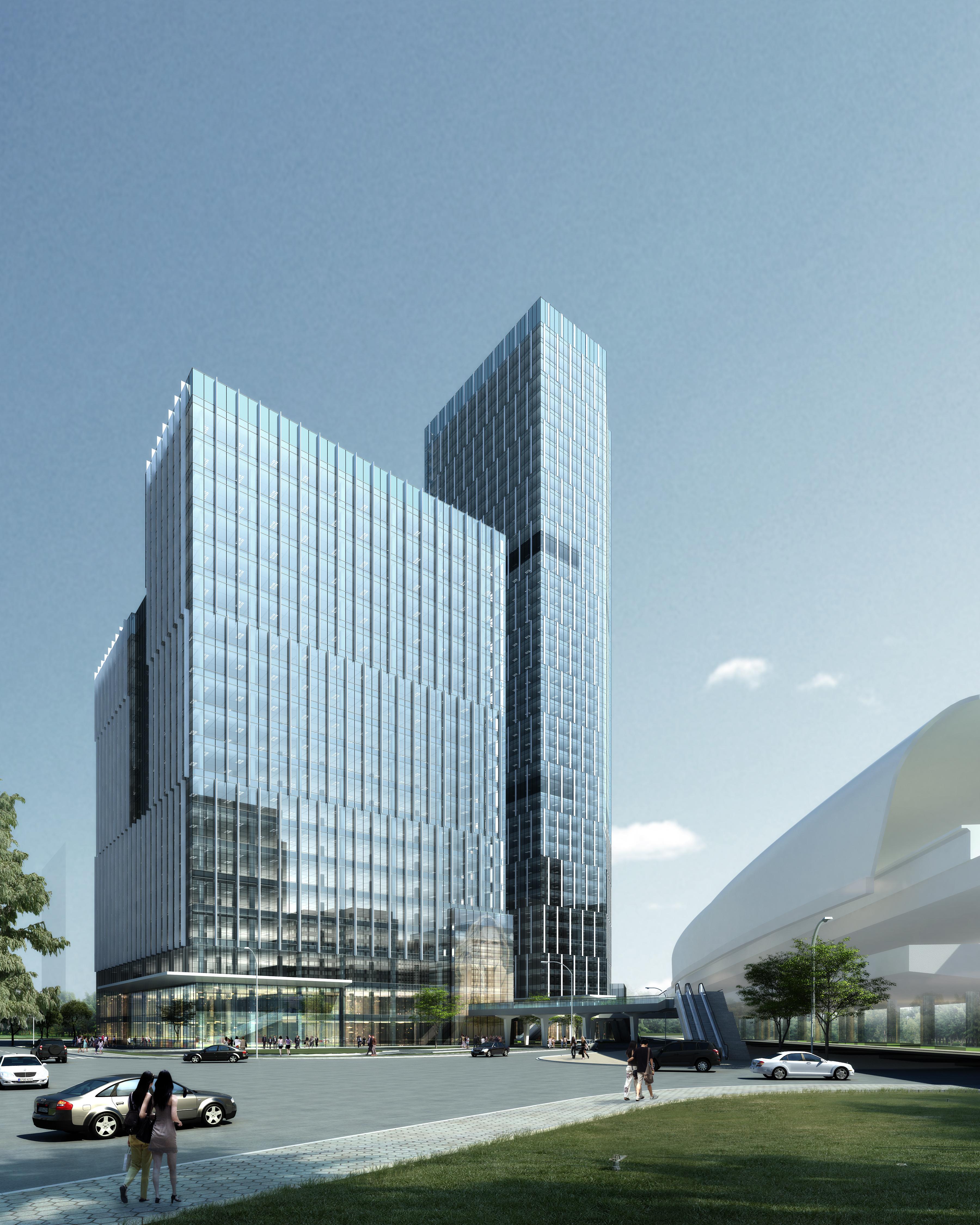 skyscraper office building 027 3d model max 206420