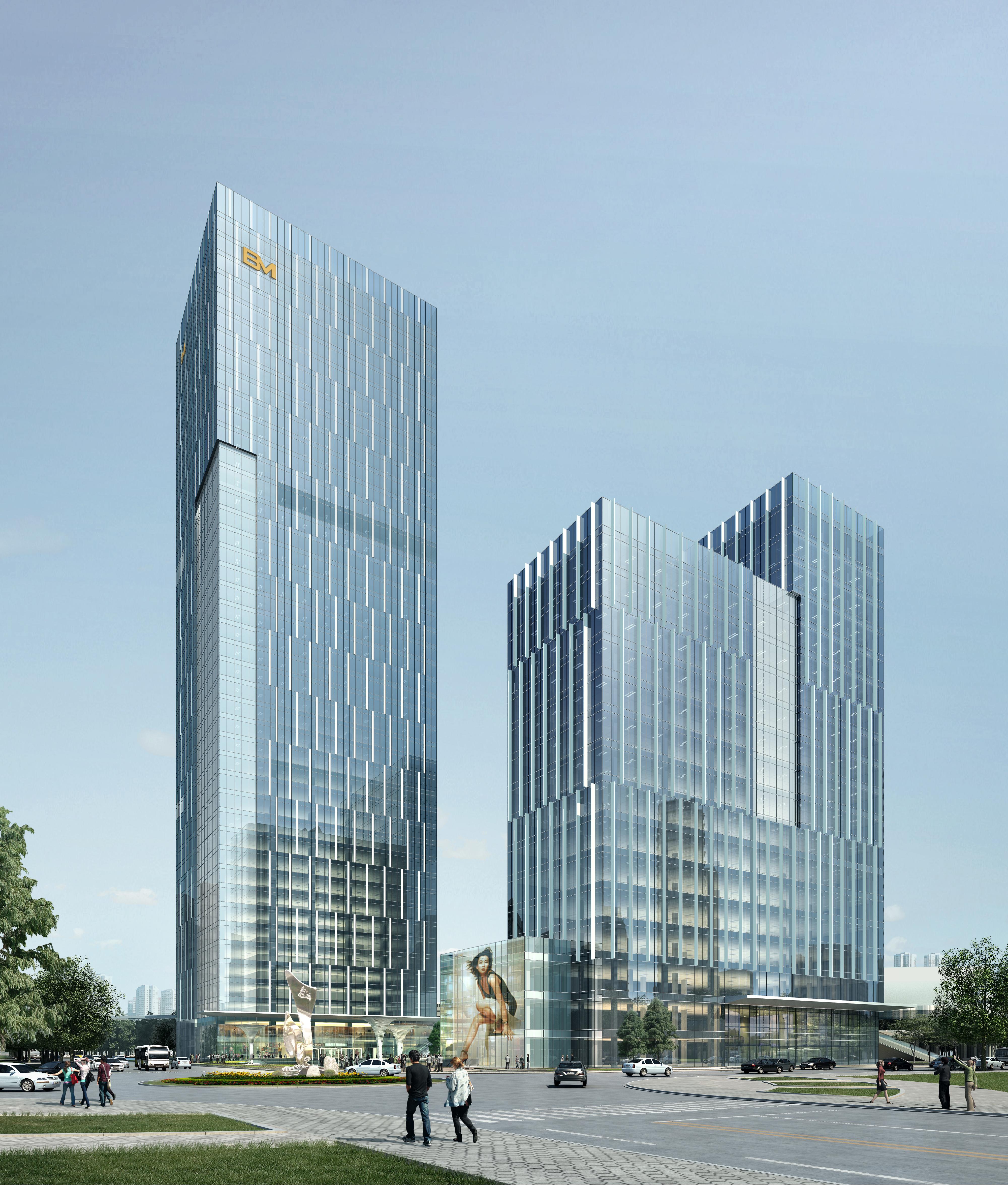 skyscraper office building 027 3d model max 206421