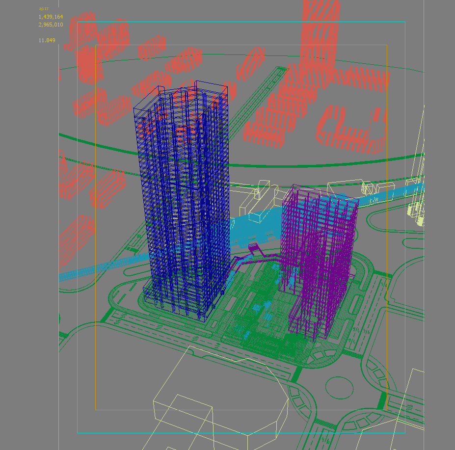 skyscraper office building 027 3d model max 206423