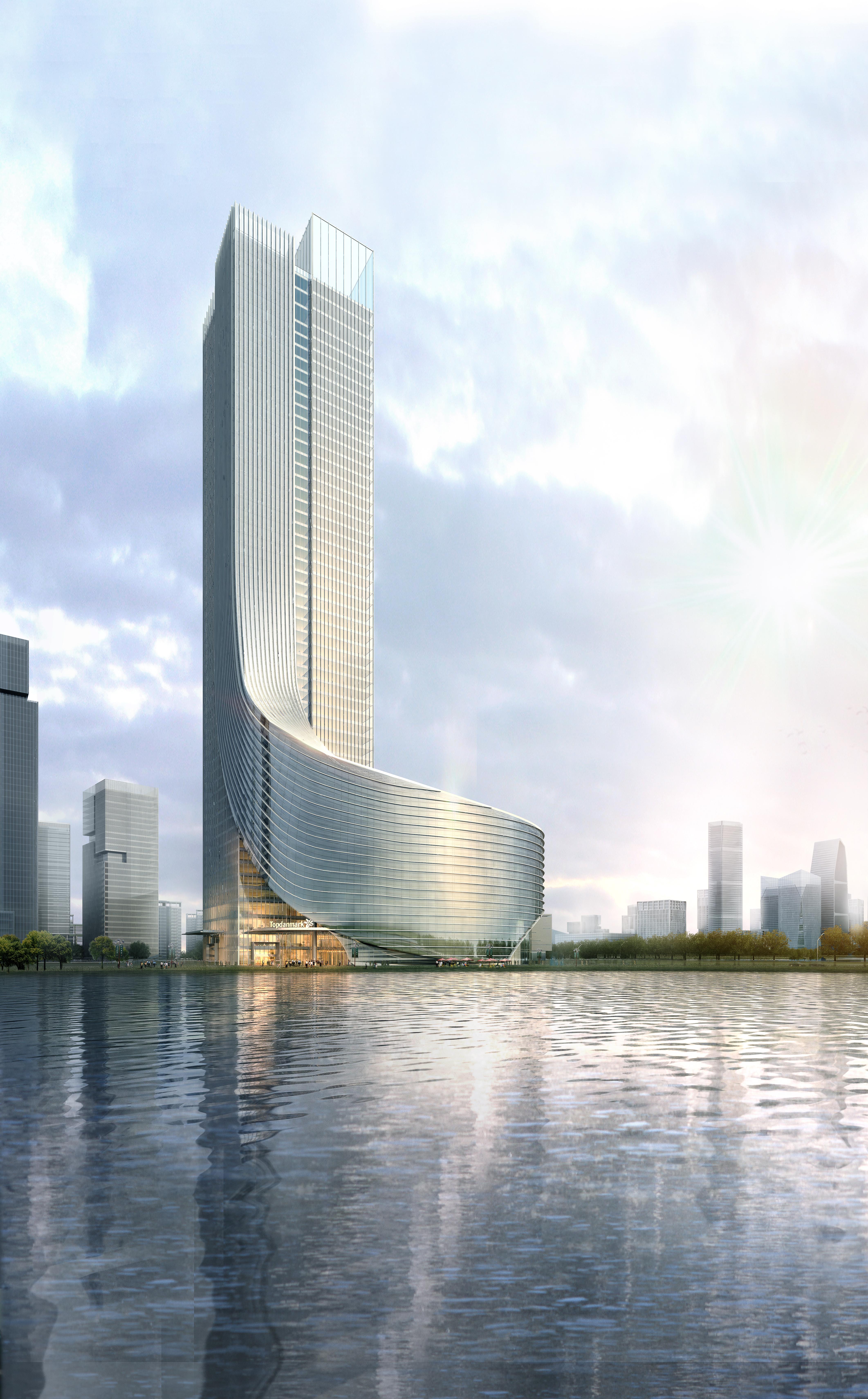 skyscraper office building 028 3d model max 206426