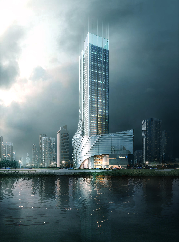 skyscraper office building 028 3d model max 206427