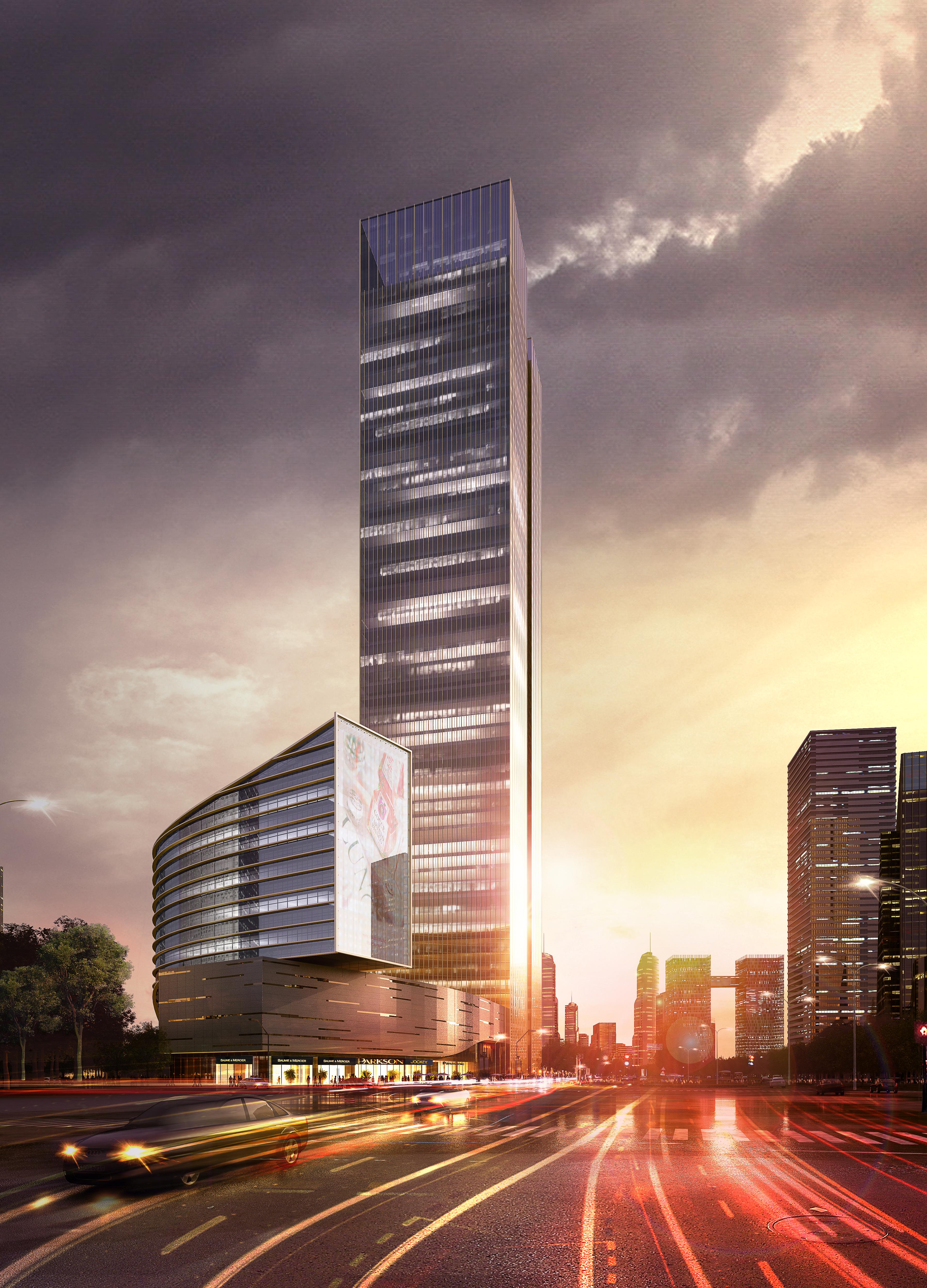 skyscraper office building 028 3d model max 206428