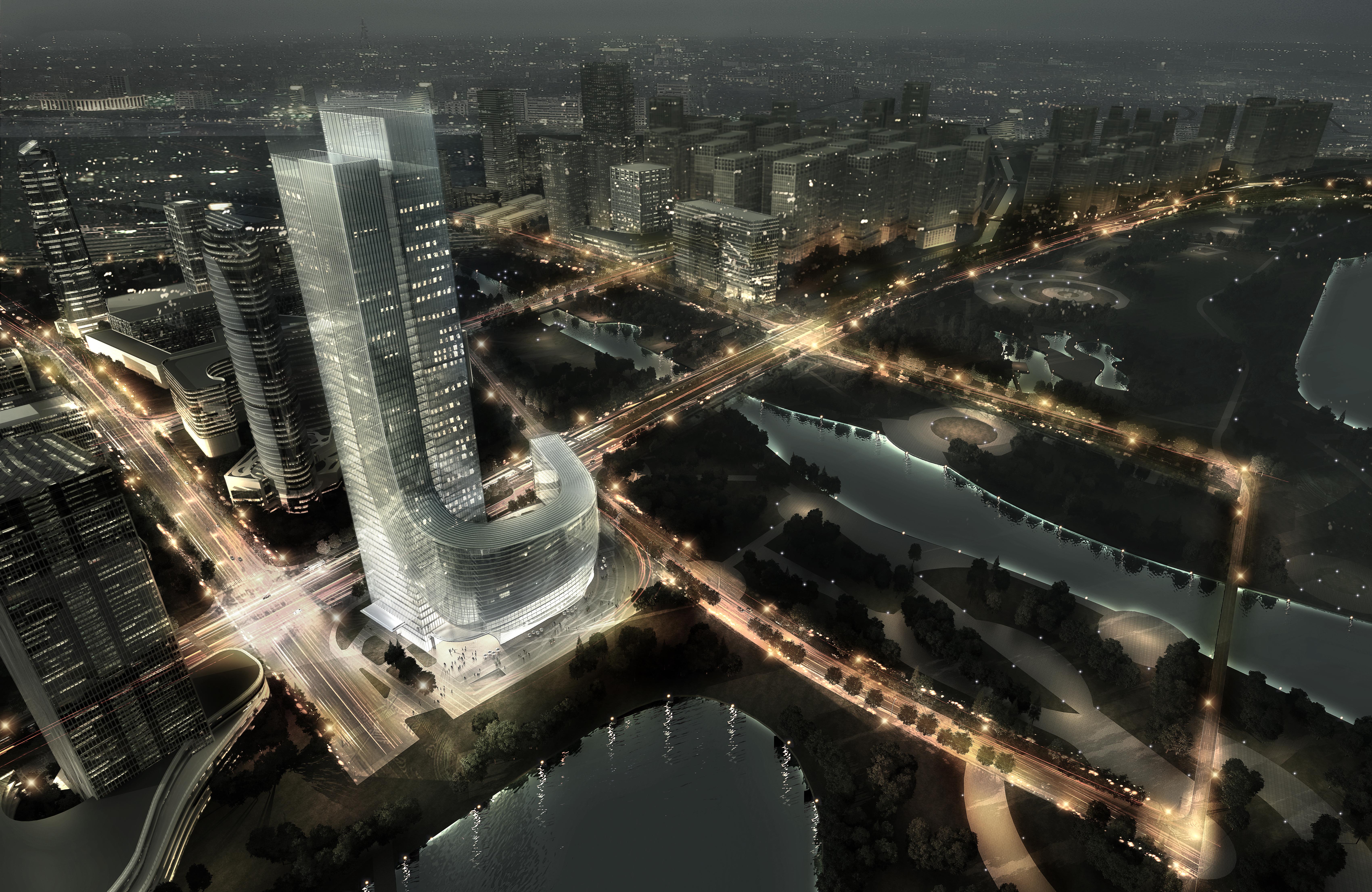 skyscraper office building 028 3d model max 206429