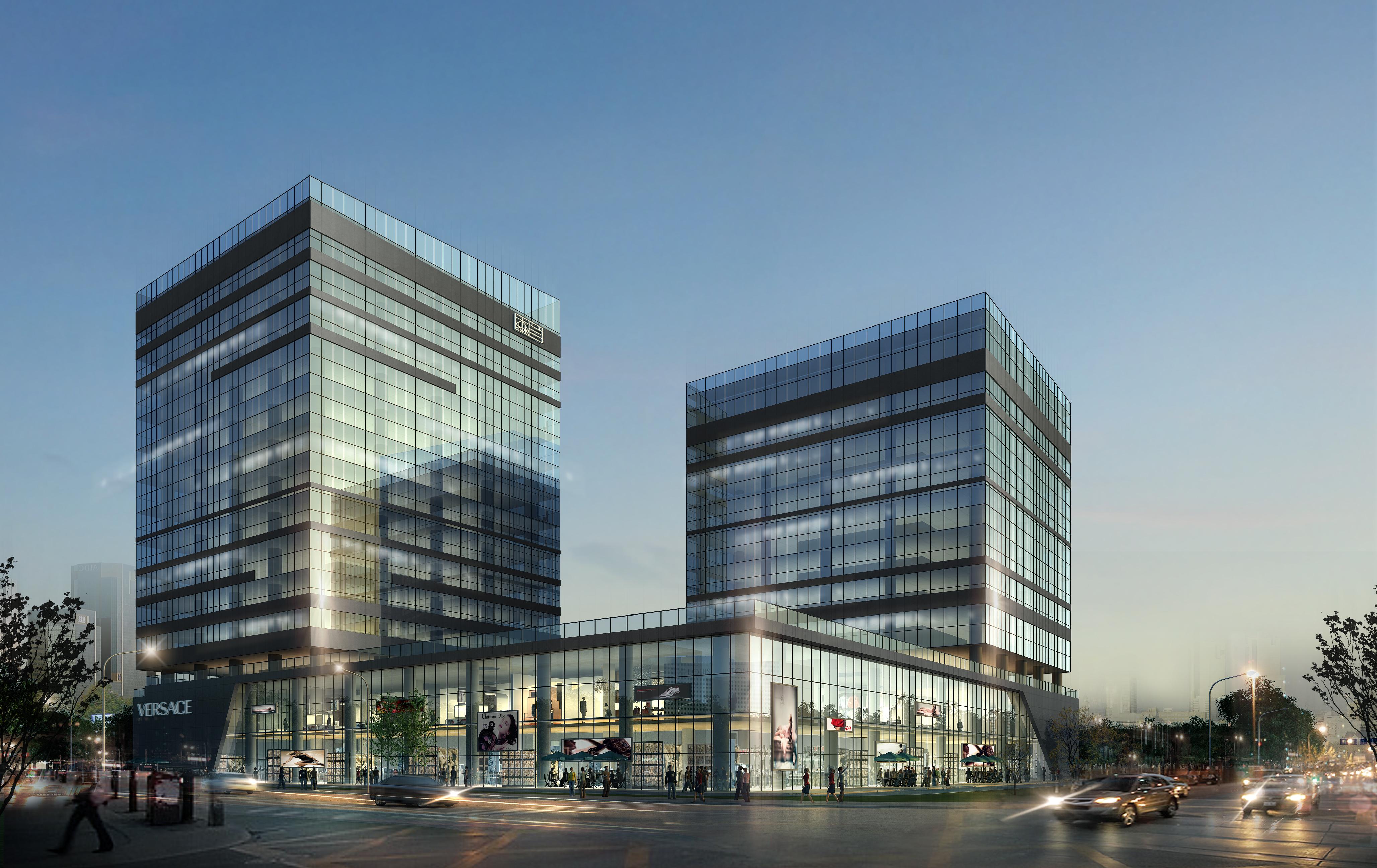 skyscraper office building 029 3d model max 206433