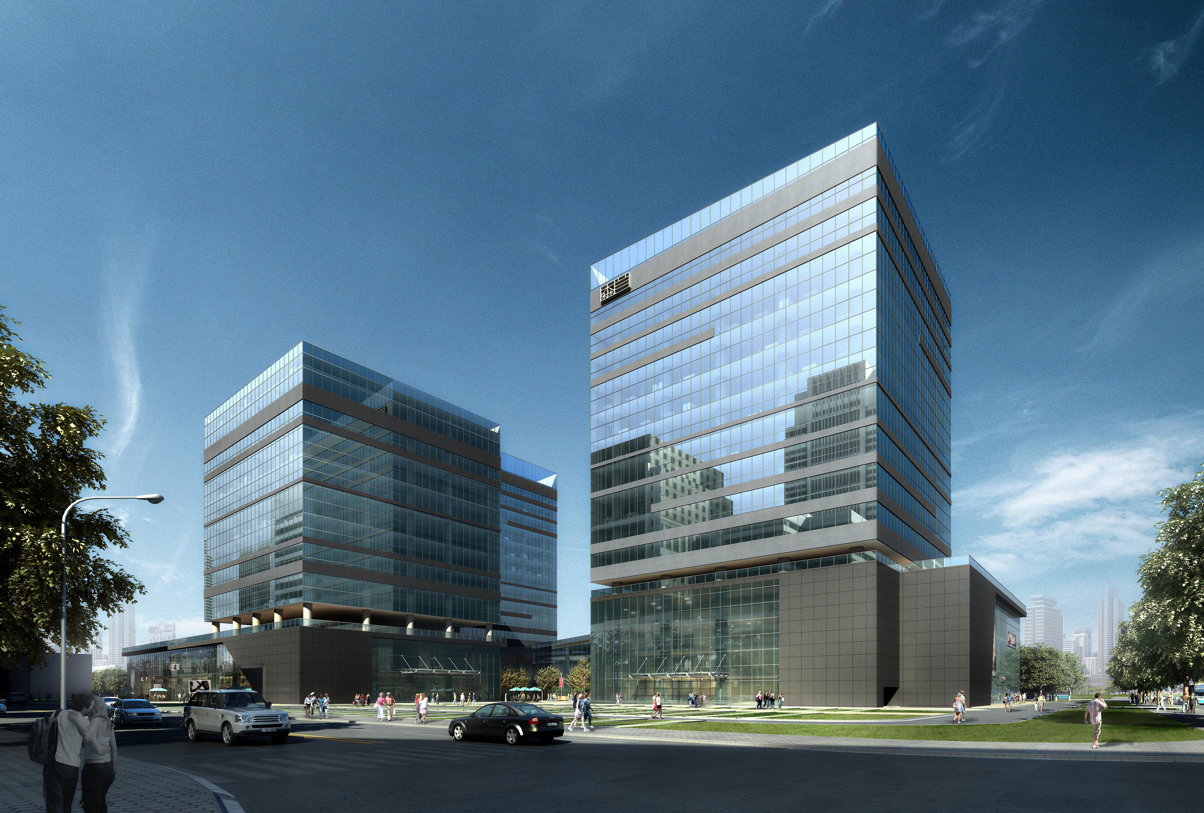 Building Exterior: Skyscraper Office Building 029 3D Model