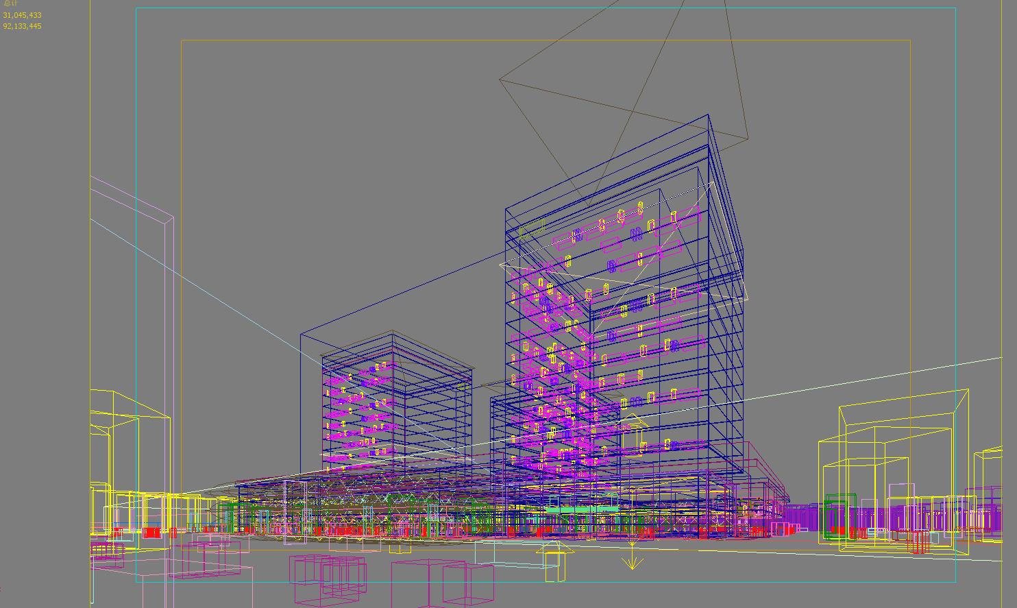 skyscraper office building 029 3d model max 206436