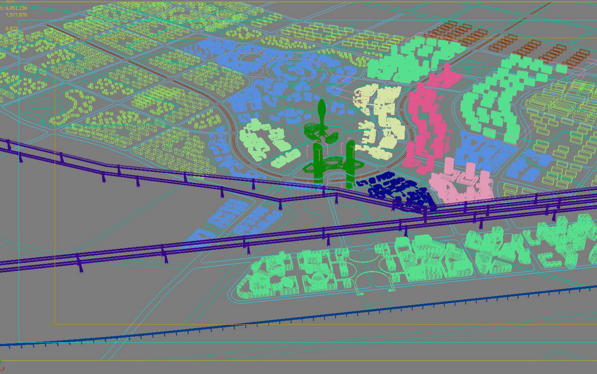 city planning 028 3d model max 206496