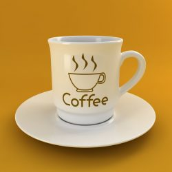 Coffee Tea Cup 003 3d model 0