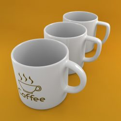 Coffee Tea Cup 002 3d model 0