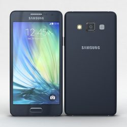 Samsung Galaxy A3 and A3 Duos Black 3d model 3ds max fbx c4d obj
