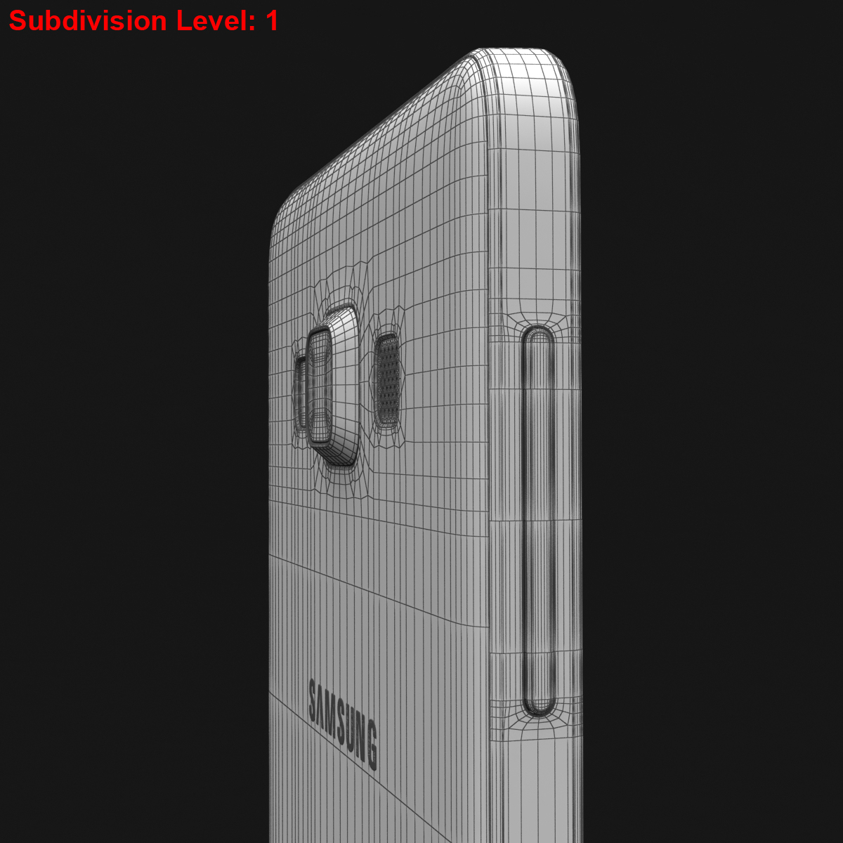 samsung galaxy a3 and a3 duos white 3d model 3ds max fbx c4d obj 206598