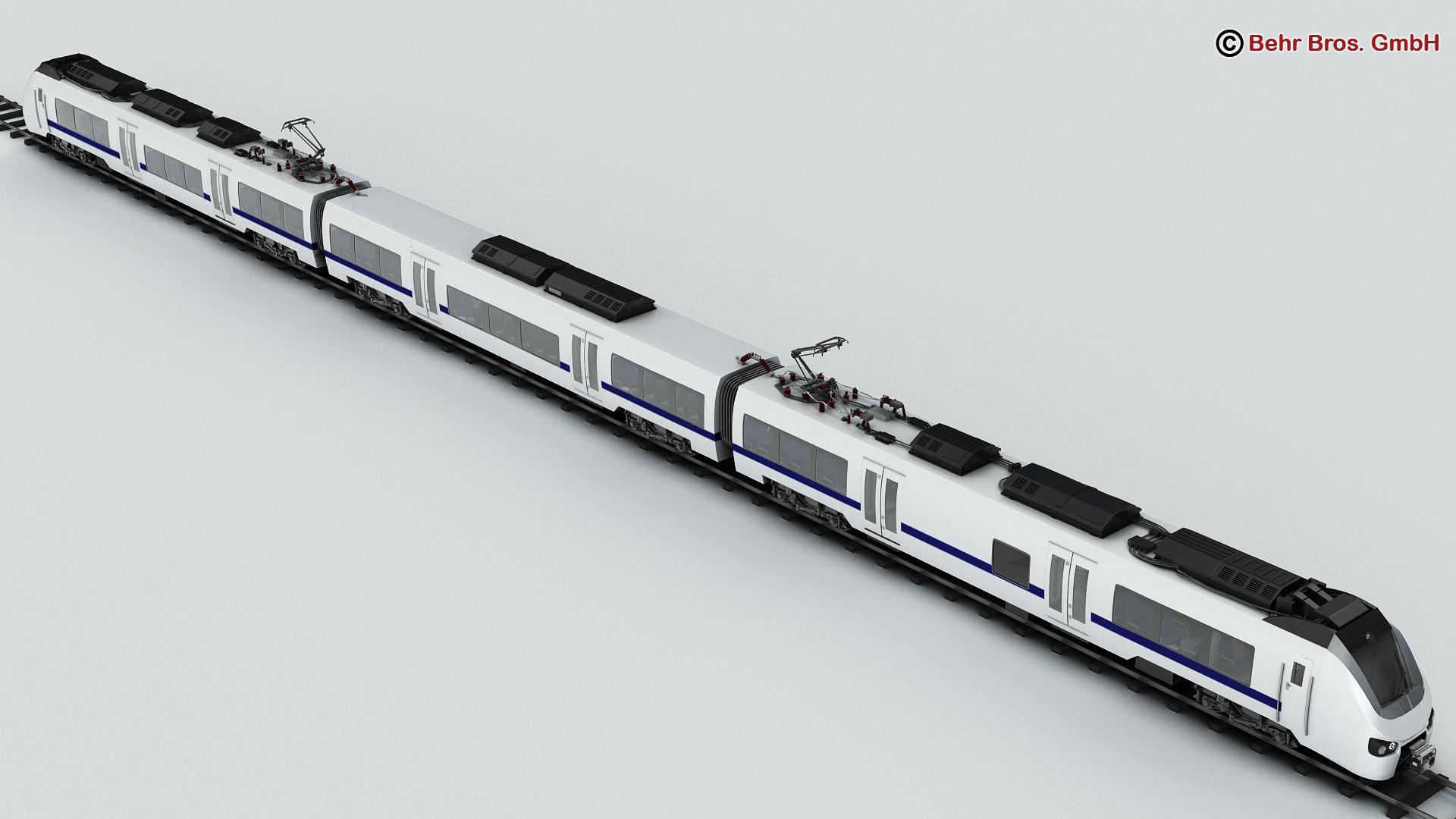 generic commuter train 3d model 3ds max fbx c4d ma mb obj 206607
