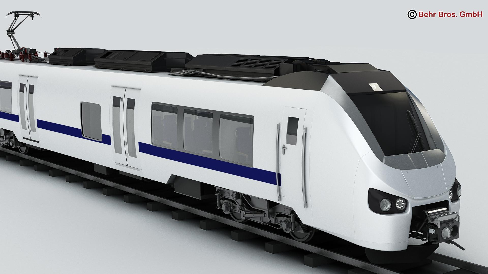 generic commuter train 3d model 3ds max fbx c4d ma mb obj 206608