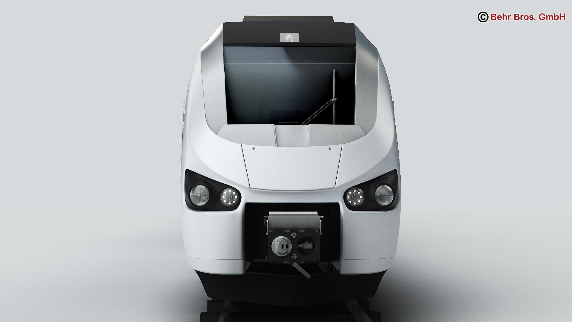 generic commuter train 3d model 3ds max fbx c4d ma mb obj 206609
