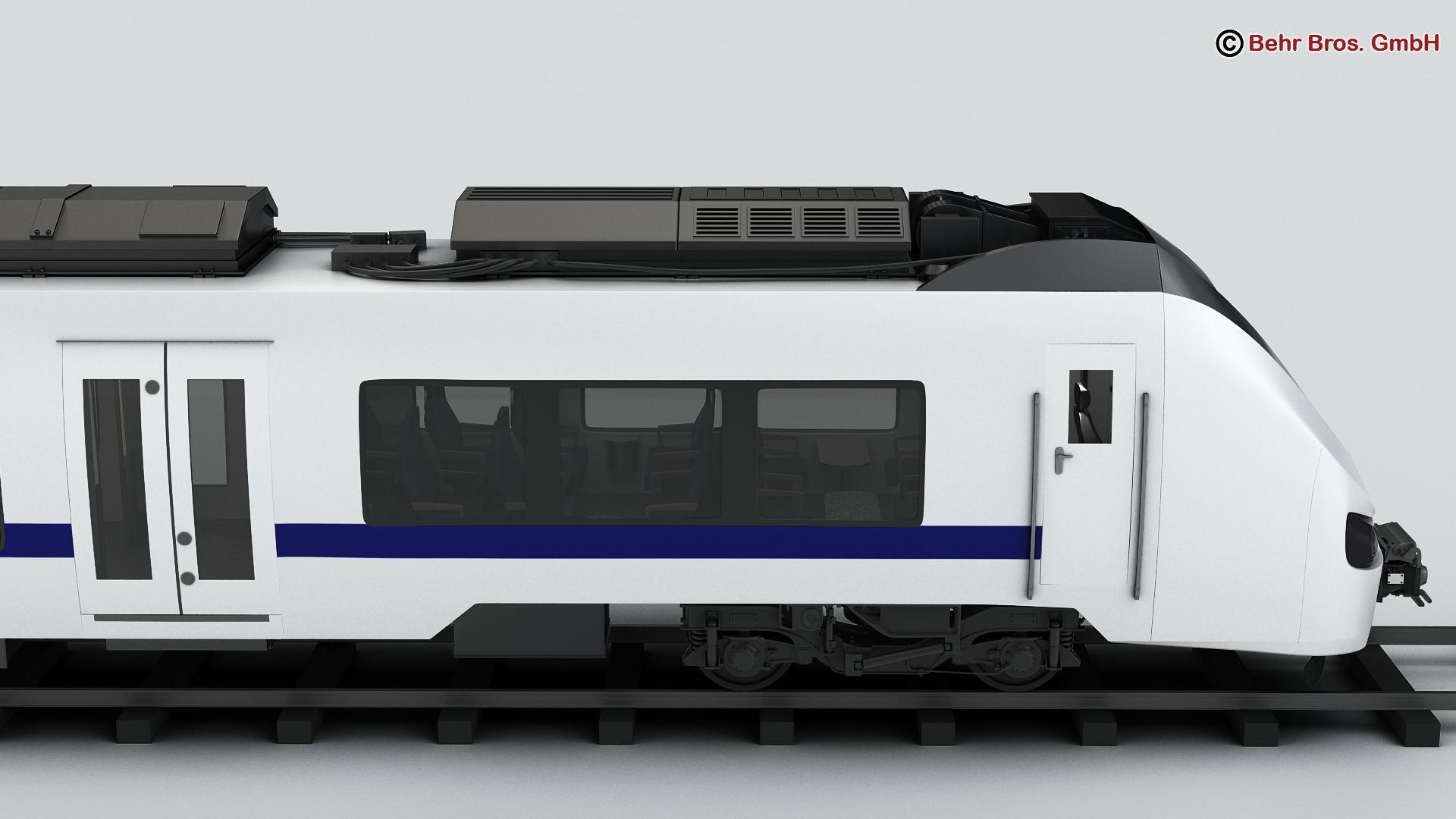generic commuter train 3d model 3ds max fbx c4d ma mb obj 206617