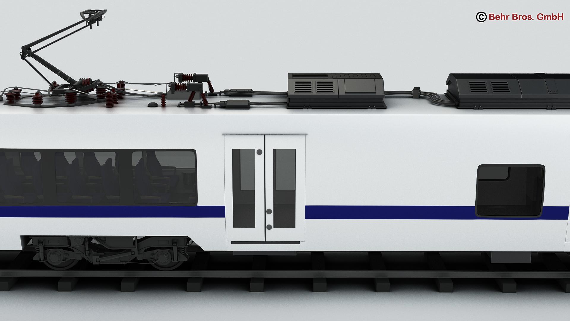 generic commuter train 3d model 3ds max fbx c4d ma mb obj 206618