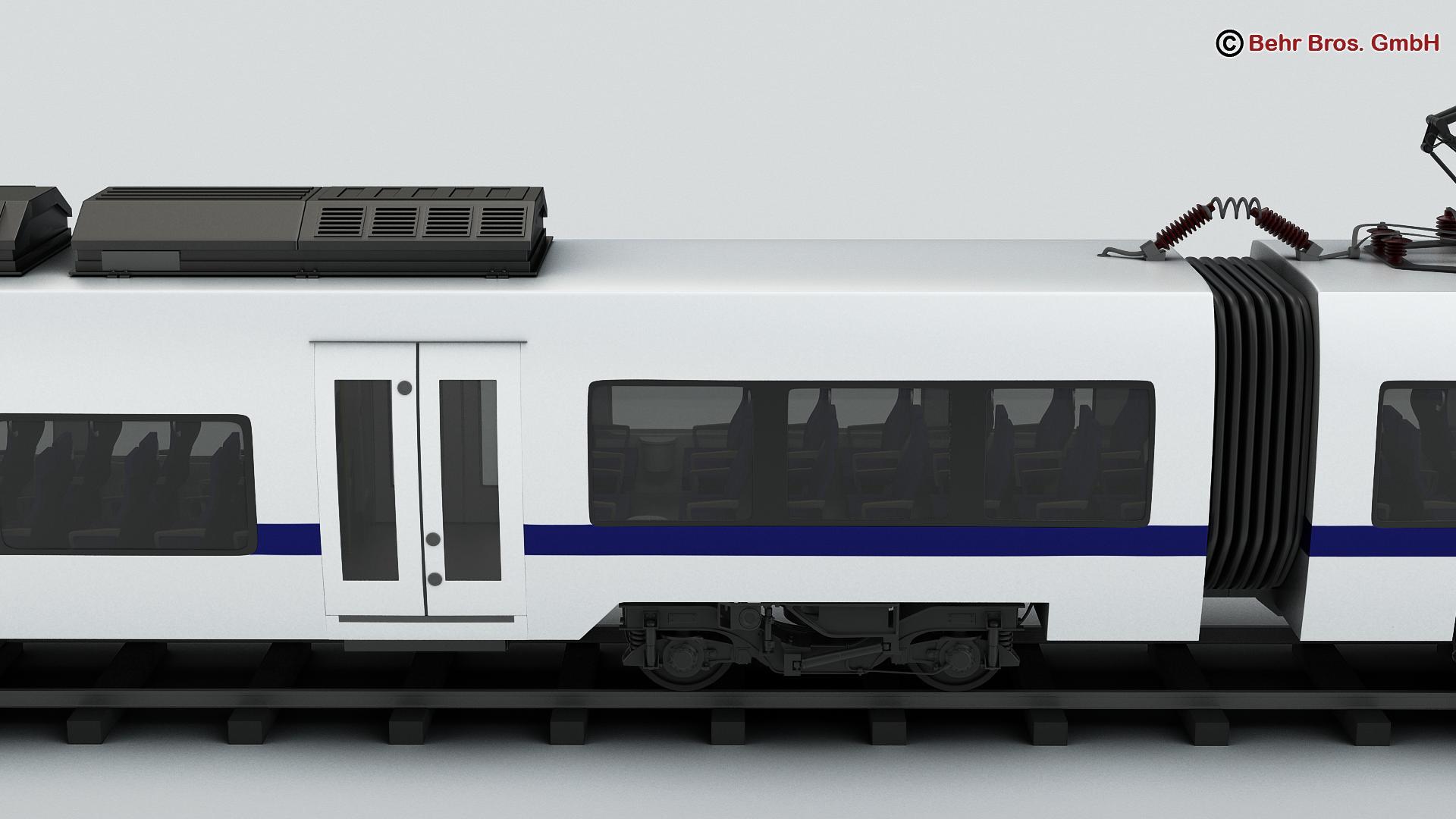 generic commuter train 3d model 3ds max fbx c4d ma mb obj 206619