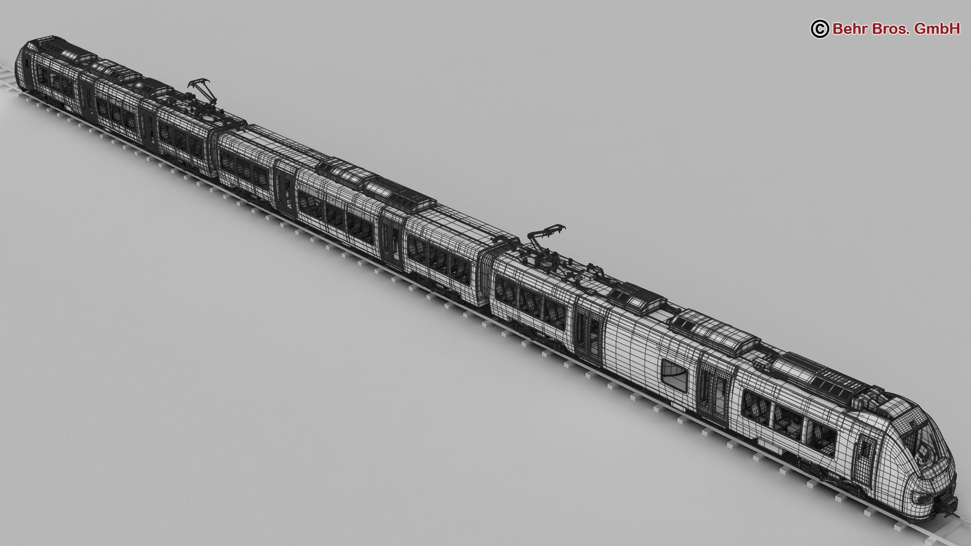 generic commuter train 3d model 3ds max fbx c4d ma mb obj 206623