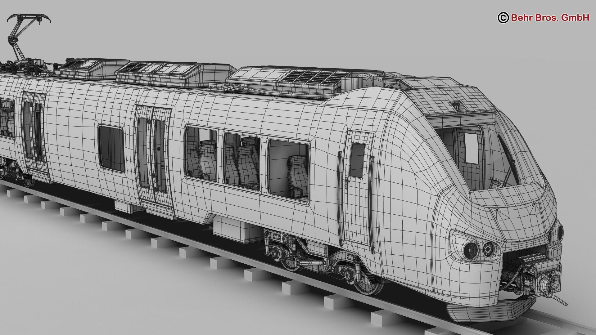generic commuter train 3d model 3ds max fbx c4d ma mb obj 206624
