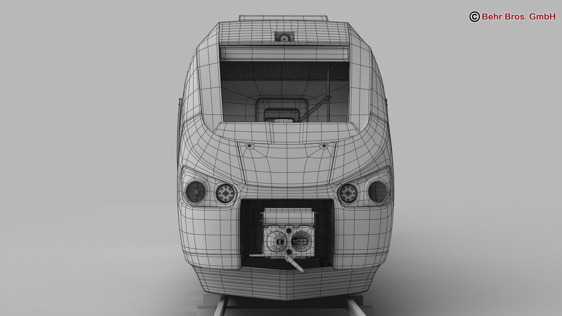 generic commuter train 3d model 3ds max fbx c4d ma mb obj 206625