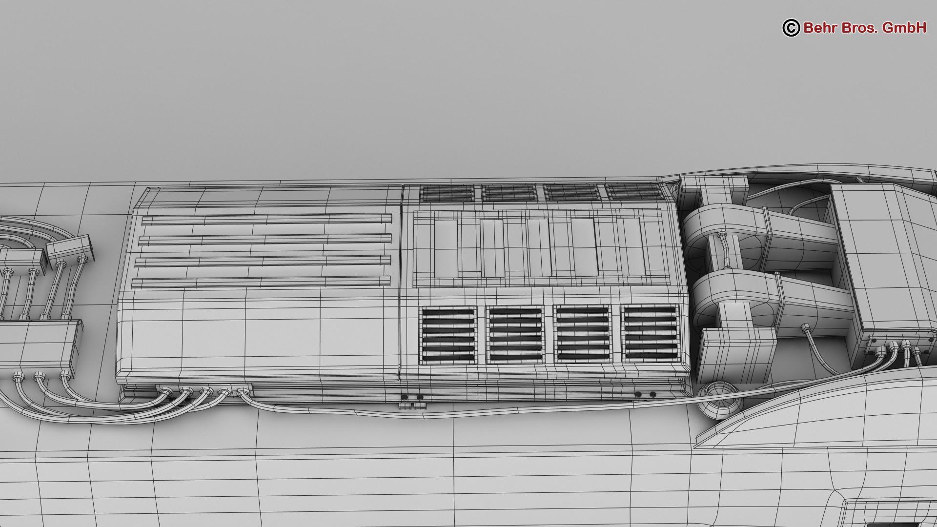 generic commuter train 3d model 3ds max fbx c4d ma mb obj 206632