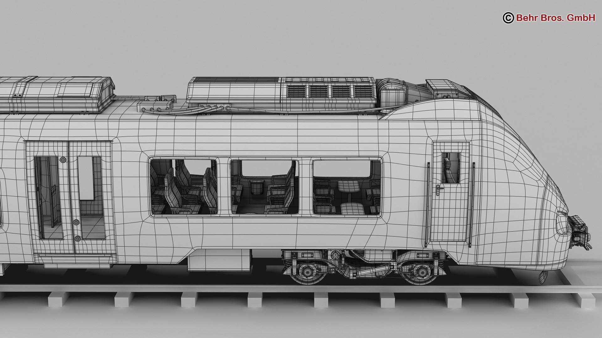 generic commuter train 3d model 3ds max fbx c4d ma mb obj 206634