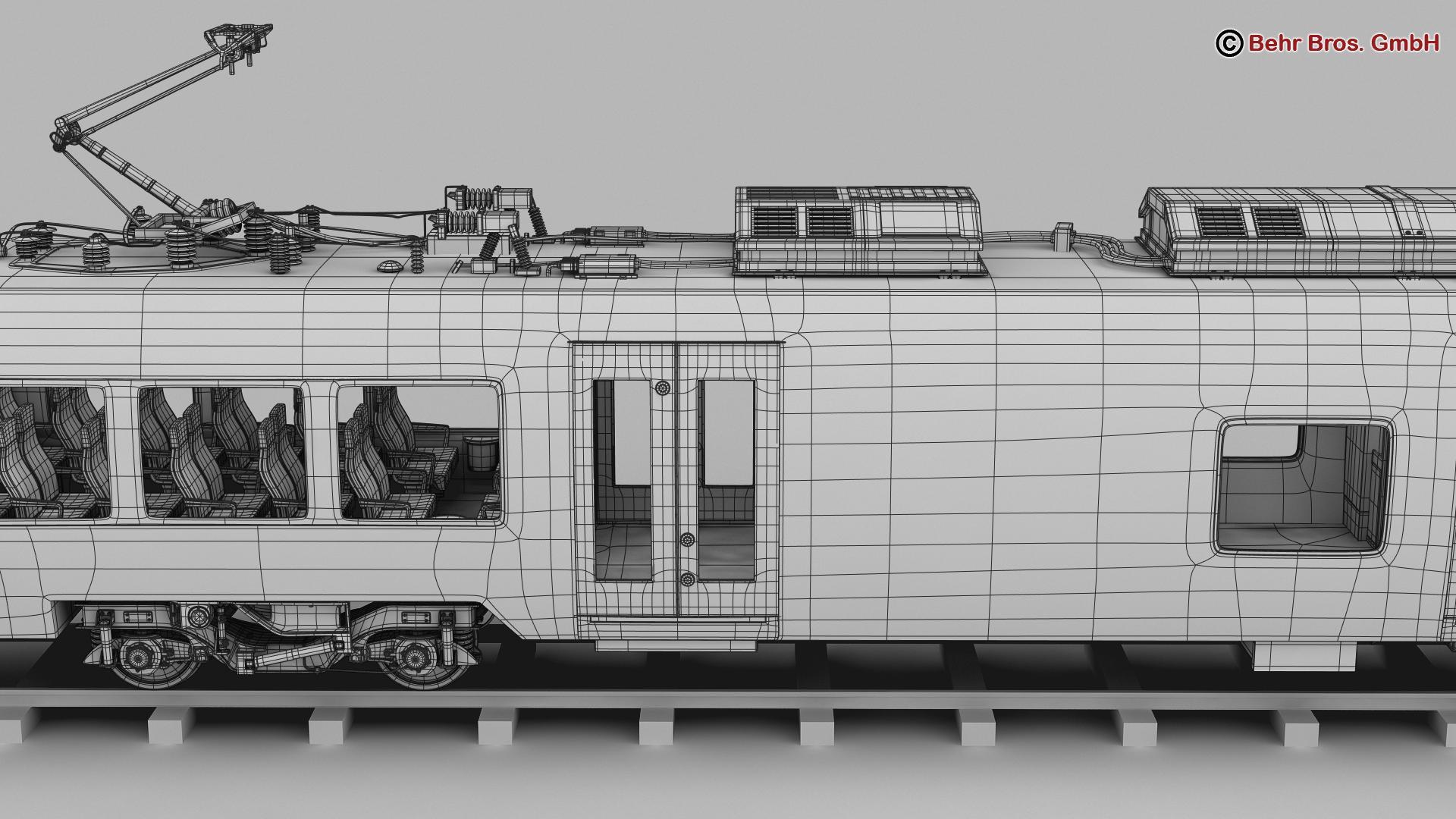 generic commuter train 3d model 3ds max fbx c4d ma mb obj 206635