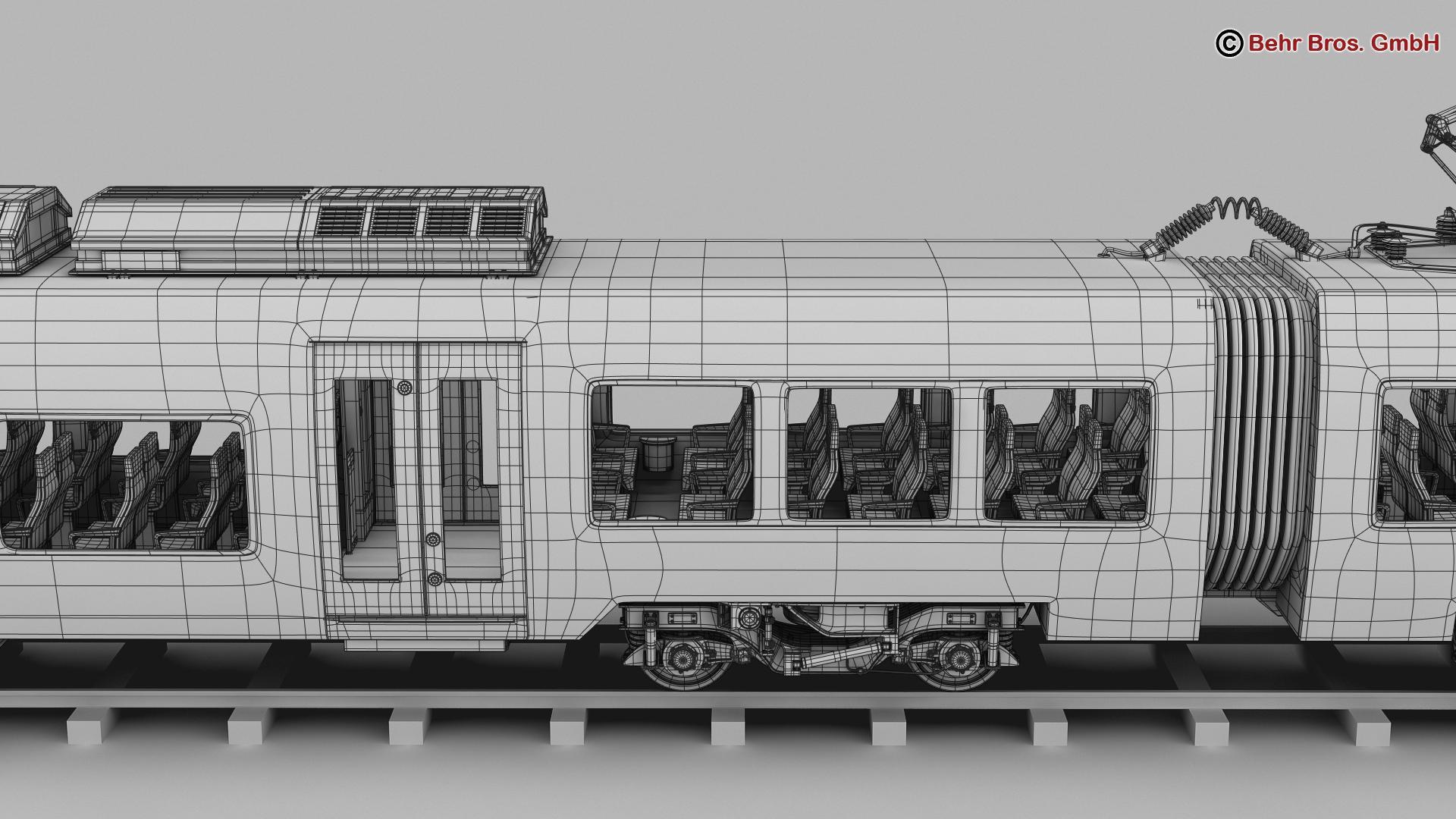generic commuter train 3d model 3ds max fbx c4d ma mb obj 206636