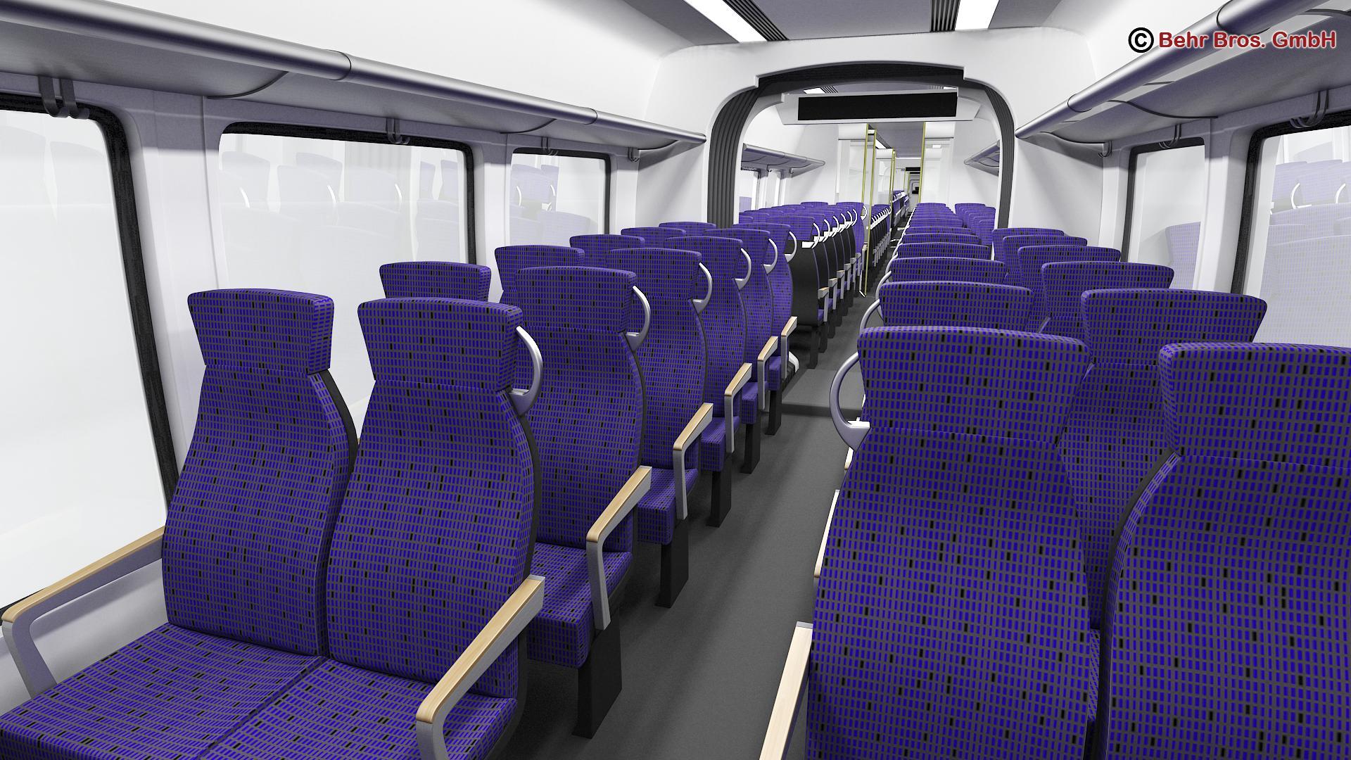 generic commuter train 3d model 3ds max fbx c4d ma mb obj 206642