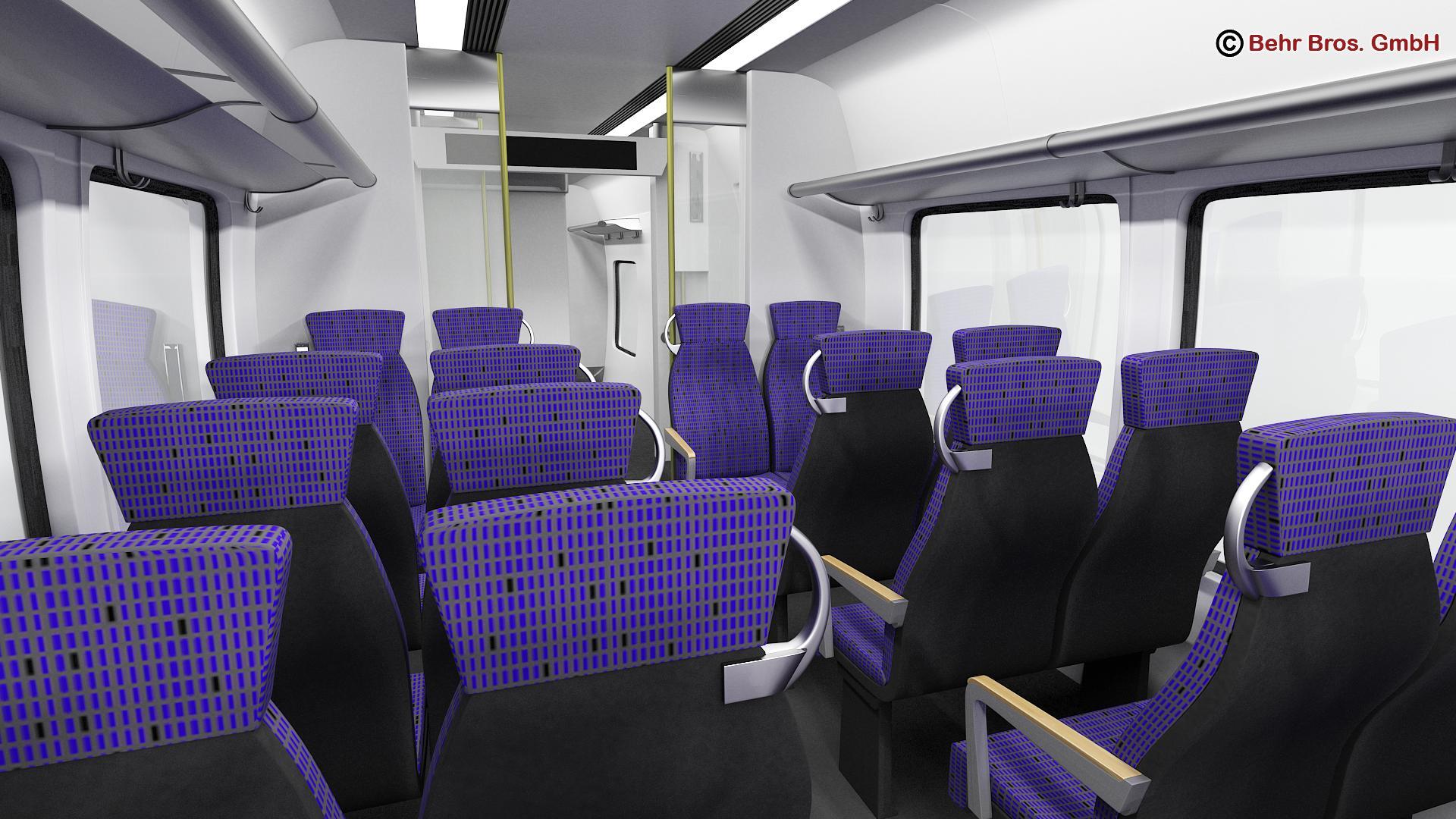 generic commuter train 3d model 3ds max fbx c4d ma mb obj 206643